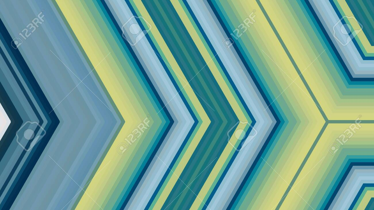 Abstract Turquoise Light Green Teal Background Geometric Arrow Illustration For Banner Digital Printing Postcards Or Wallpaper Concept Design
