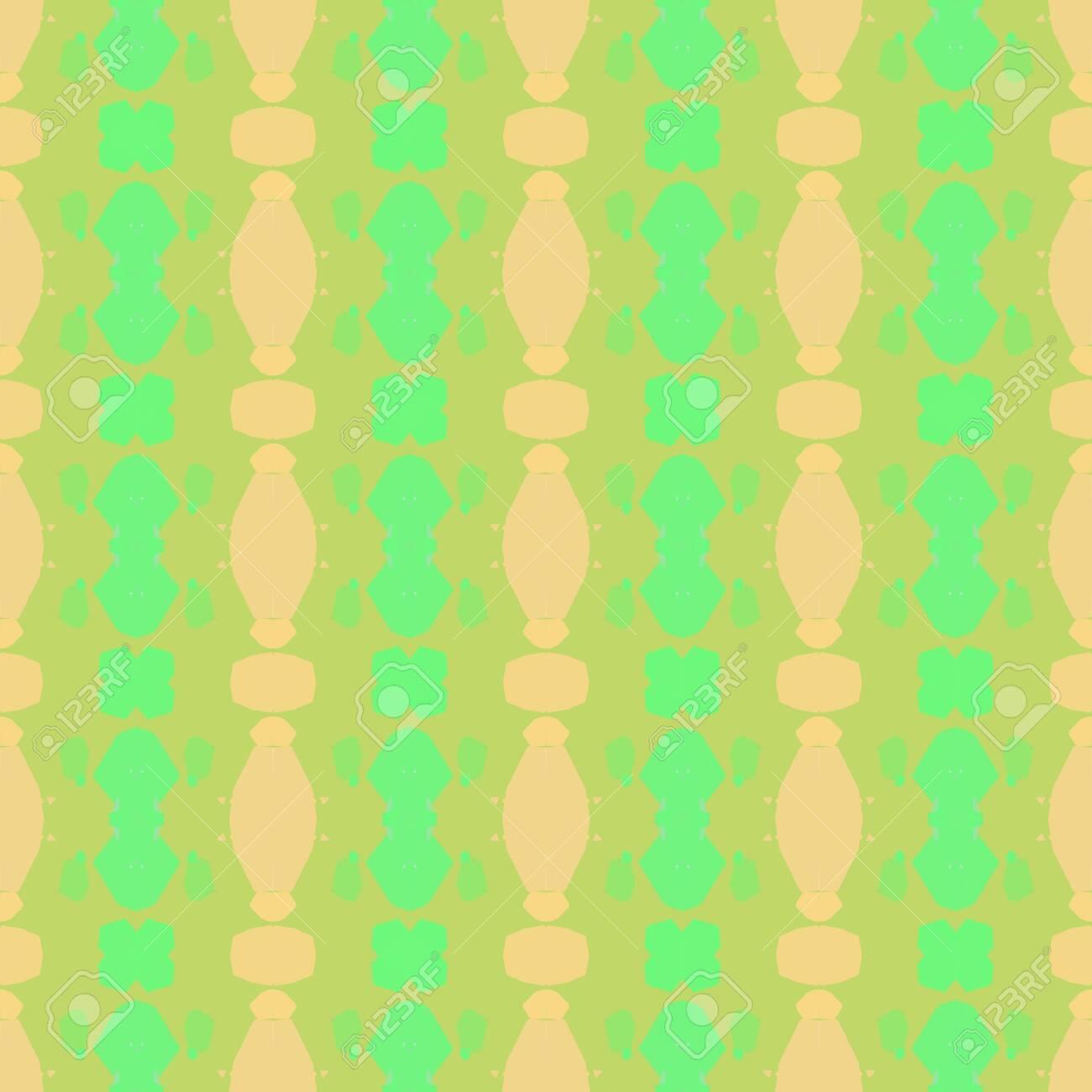 Seamless Pattern With Dark Khaki Pastel Green And Khaki Colors