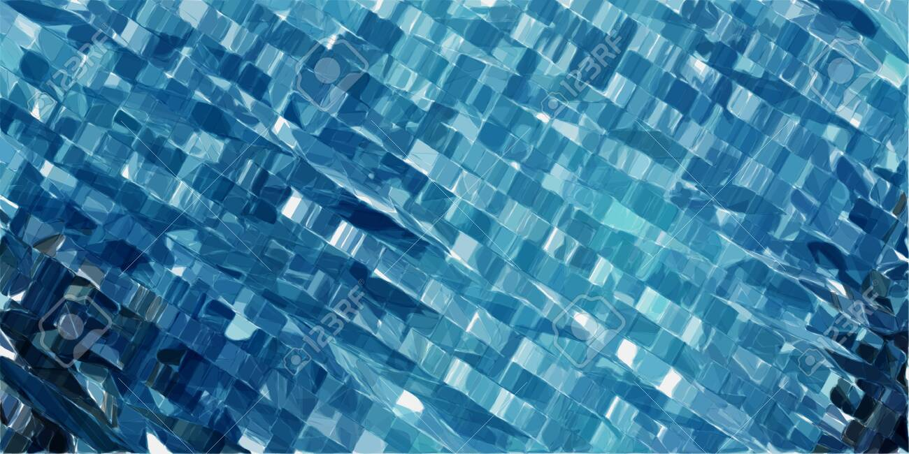 futuristic modern tech stripes background with teal blue, powder blue and very dark blue colors. - 136619832