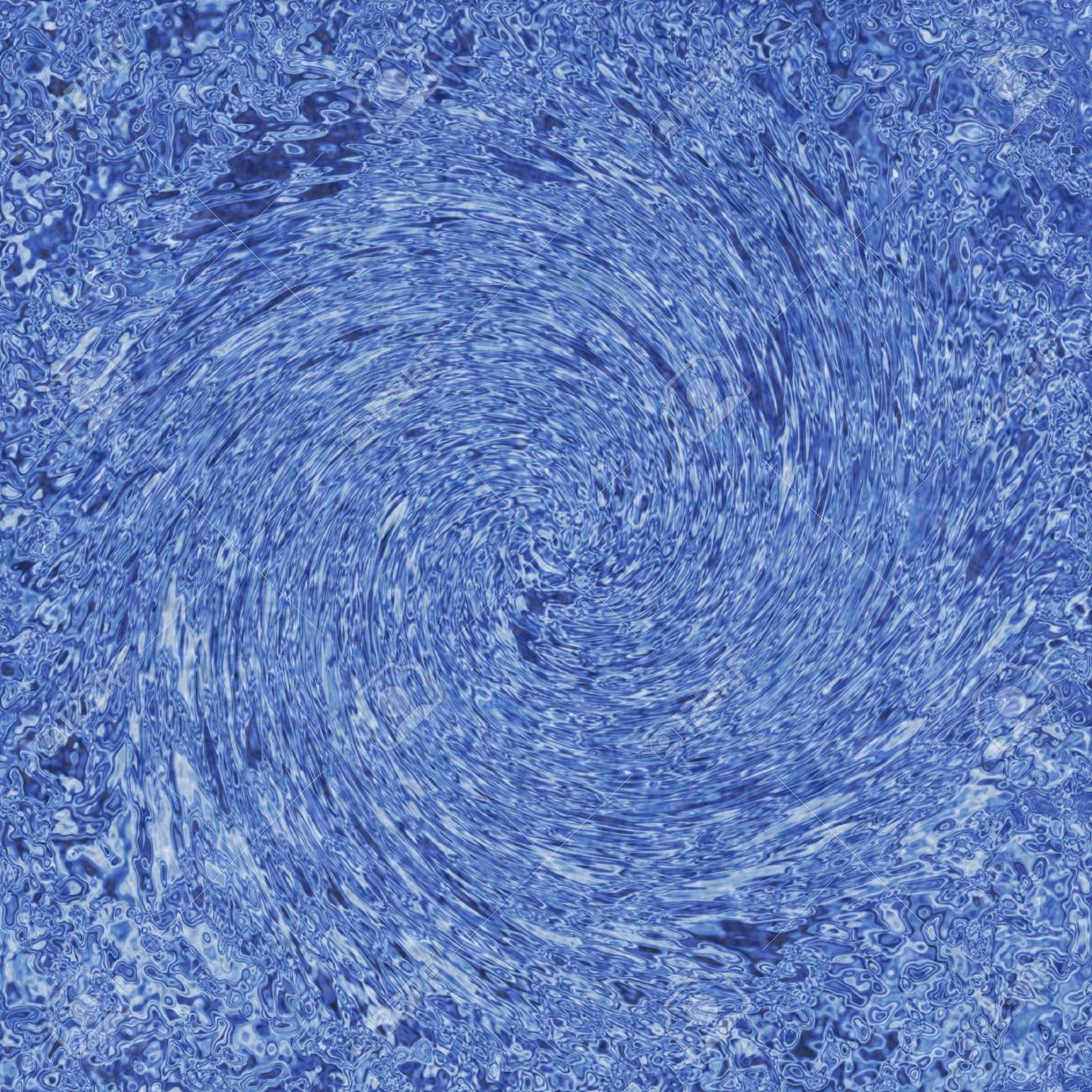 abstract blue whirlpool background. tripple on the water Stock Photo - 11552679