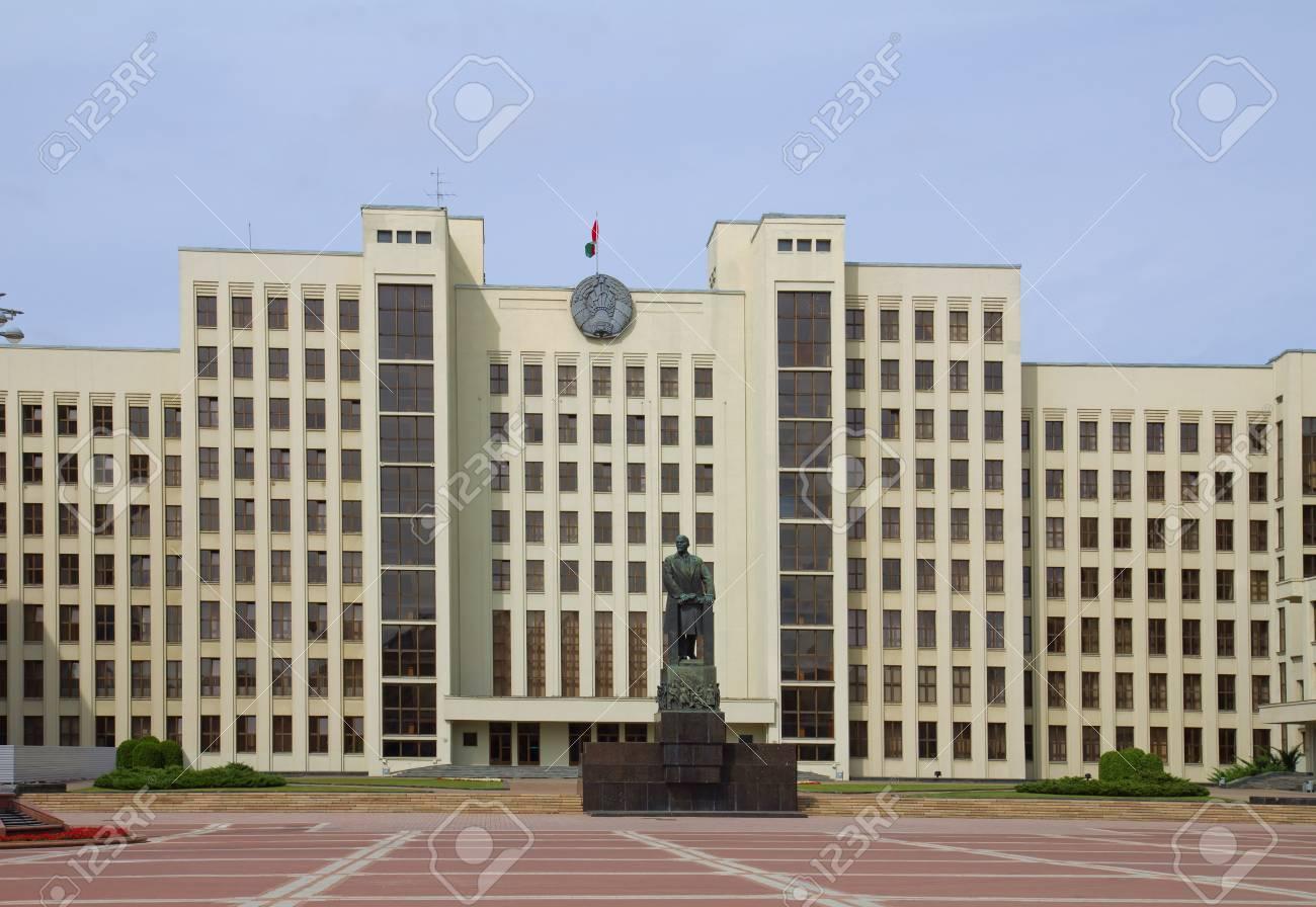 国会議事堂とミンスクで独立広場...
