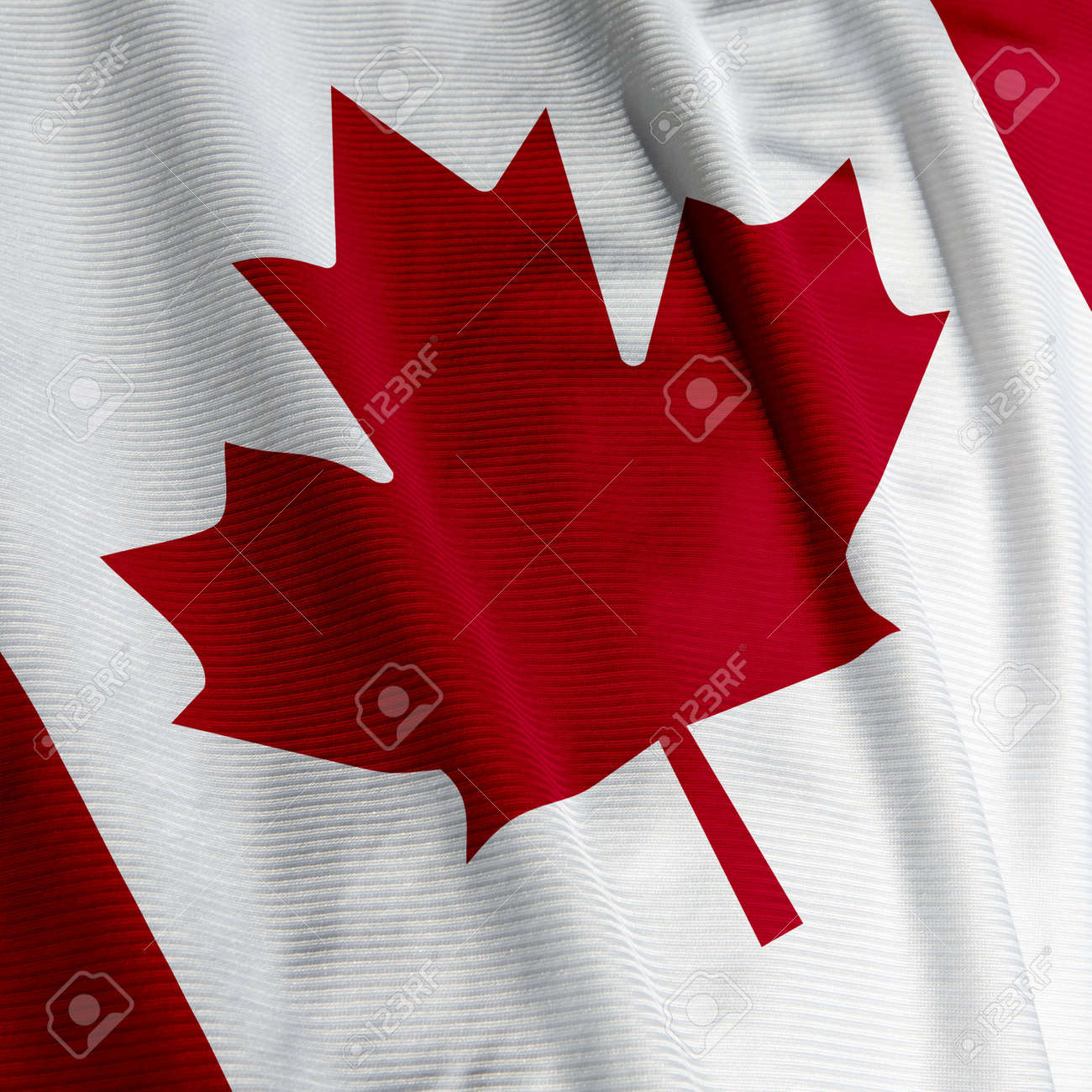 close up of the canadian flag square image stock photo picture