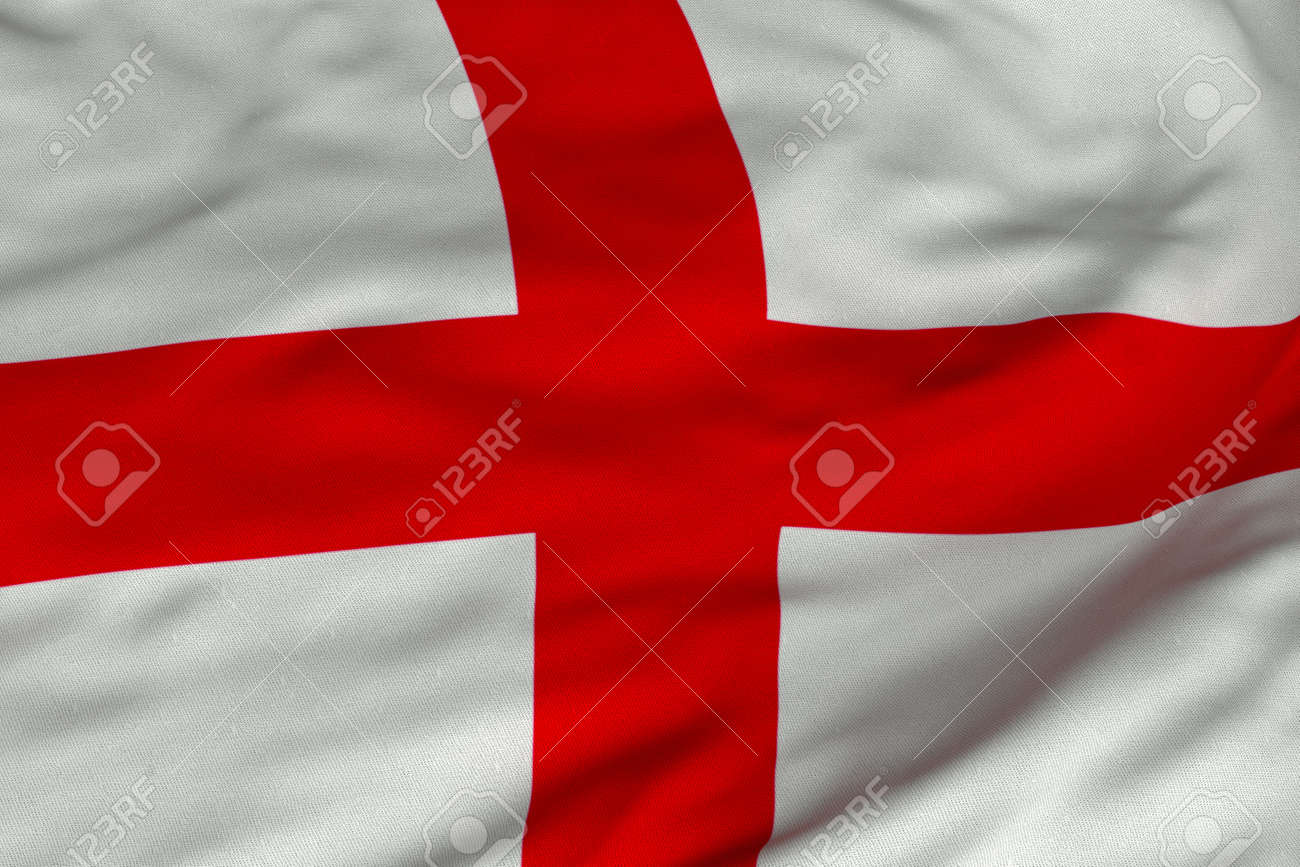 Detailed 3D rendering closeup of the flag of England.  Flag has a detailed realistic fabric texture and an accurate design and colors. Stock Photo - 9959533