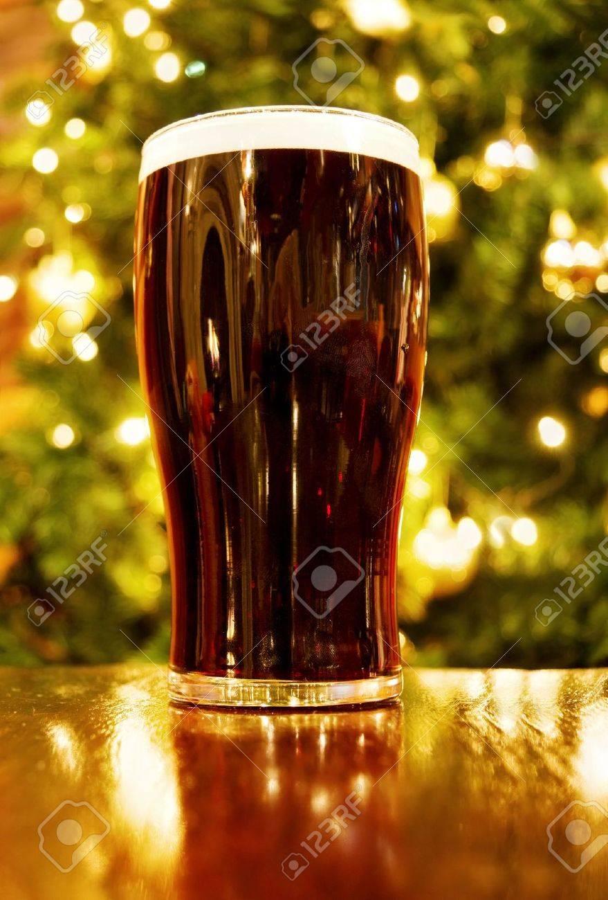 Irish Christmas.Irish Christmas With Pint Of Black Beer