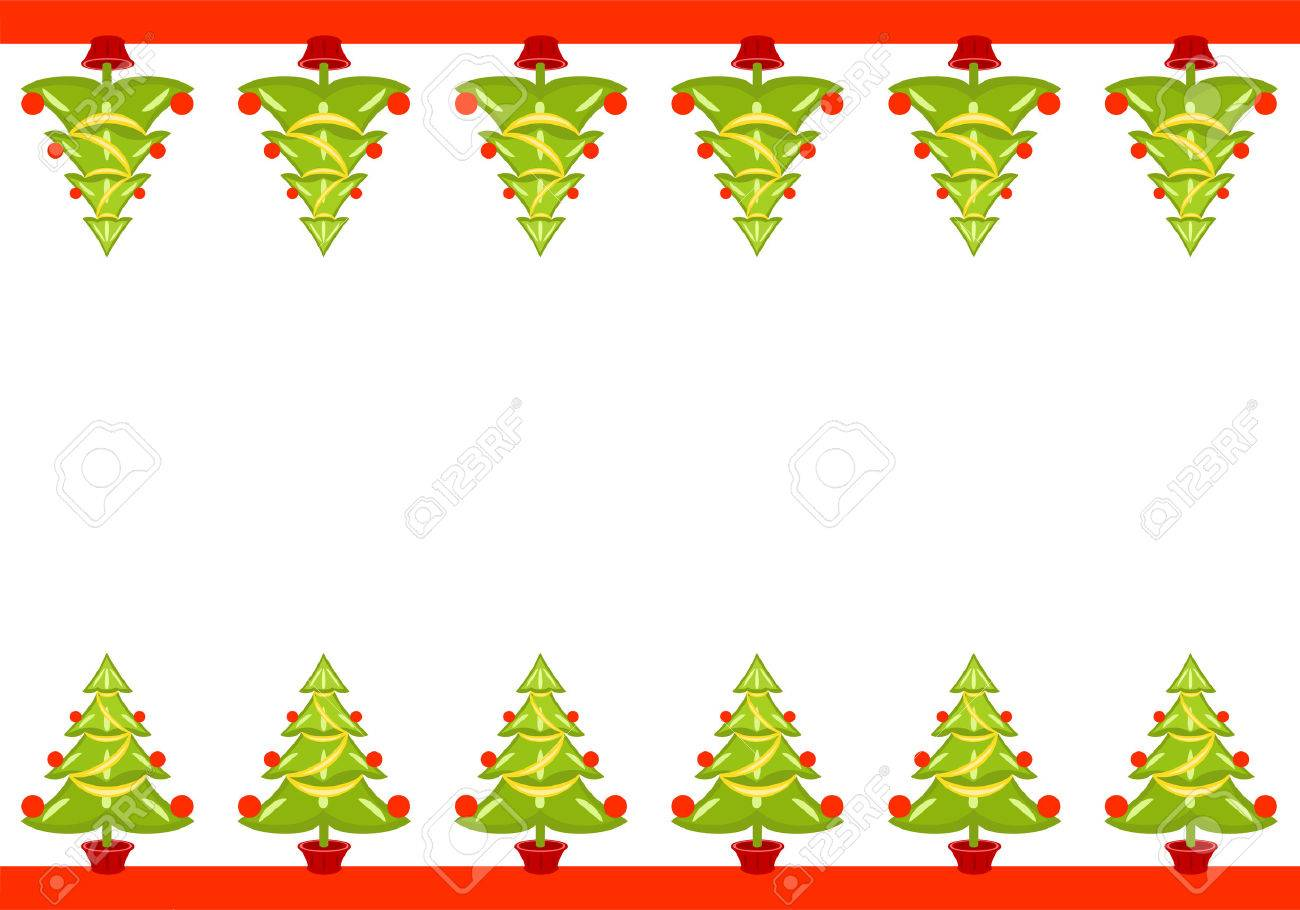 Vector Christmas seamless border with trees. Stock Vector - 5998103