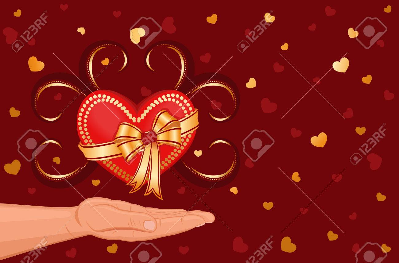 I give you my heart Stock Vector - 6292104