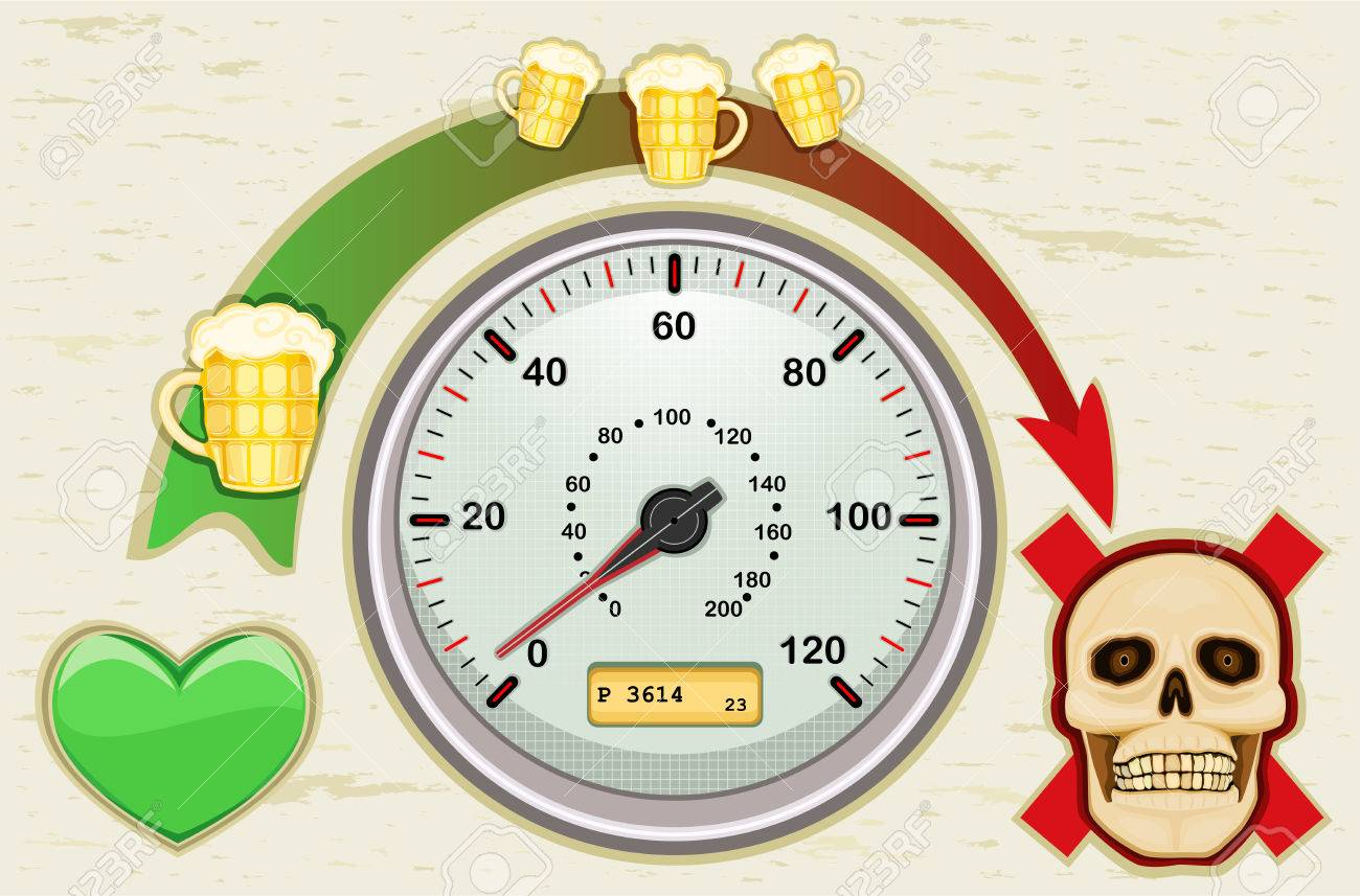 Drunk driving leads to death - never drink and drive. All elements layered and grouped. Stock Vector - 7234094