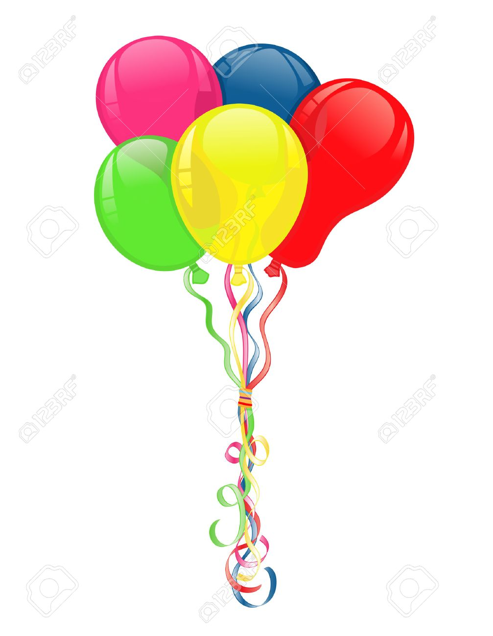 colorful balloons for party celebrations vector file saved as