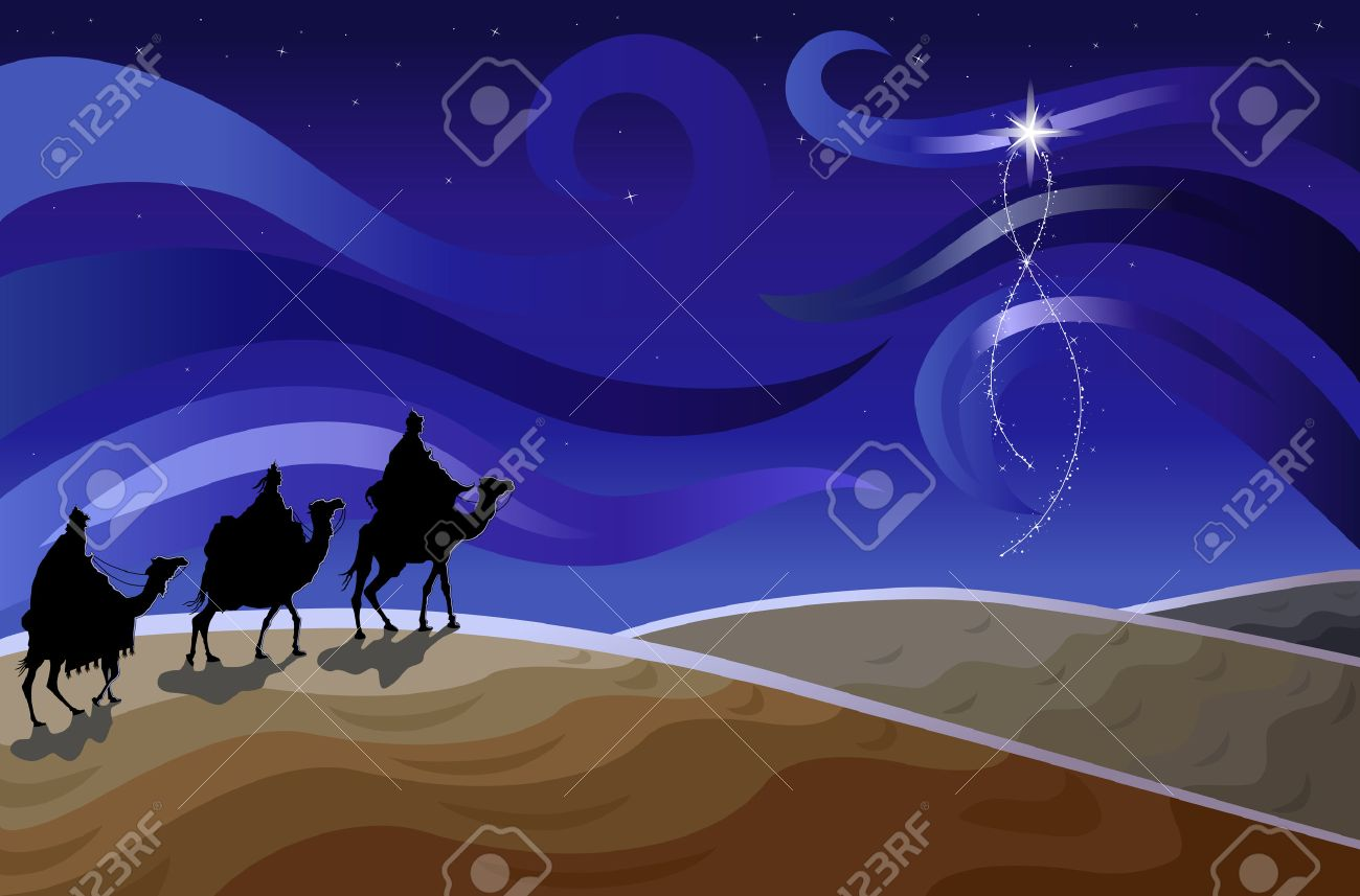 Religious Christmas Images.Religious Christmas Card With The Three Wise Men