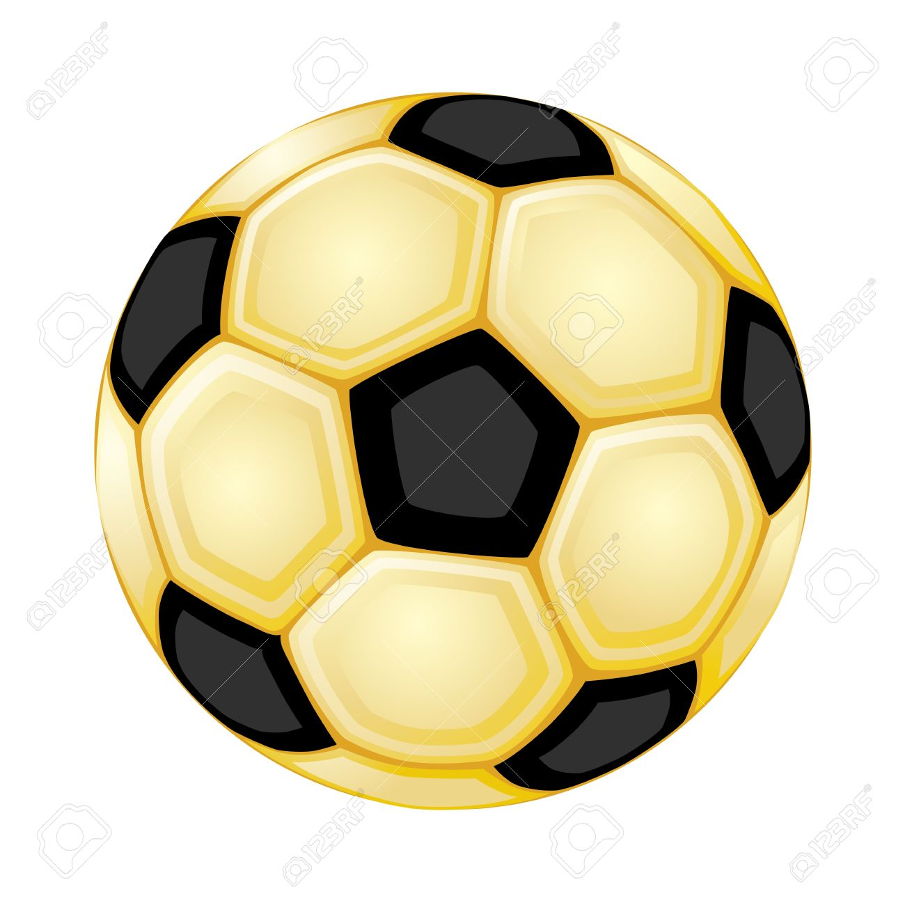 aff10d97e Golden soccer ball. Isolated over white background. Vector file saved as  EPS 8,