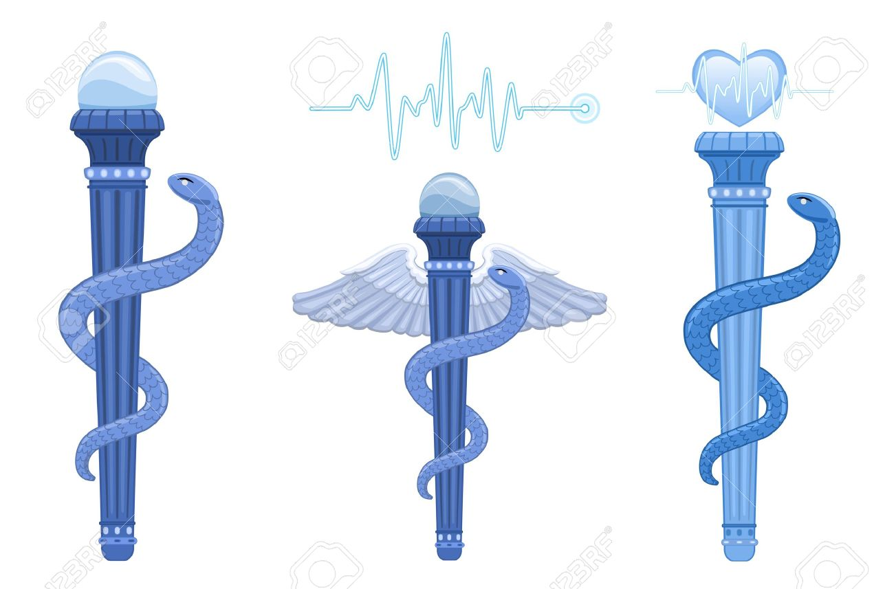 The asklepian rod of asclepius and hermes caduceus ancient the asklepian rod of asclepius and hermes caduceus ancient greek medical symbol the buycottarizona Gallery