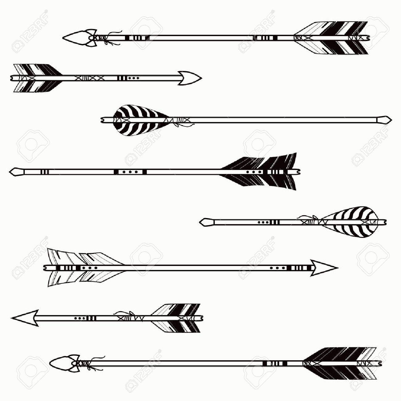 Native American Arrow Symbol Infovisual