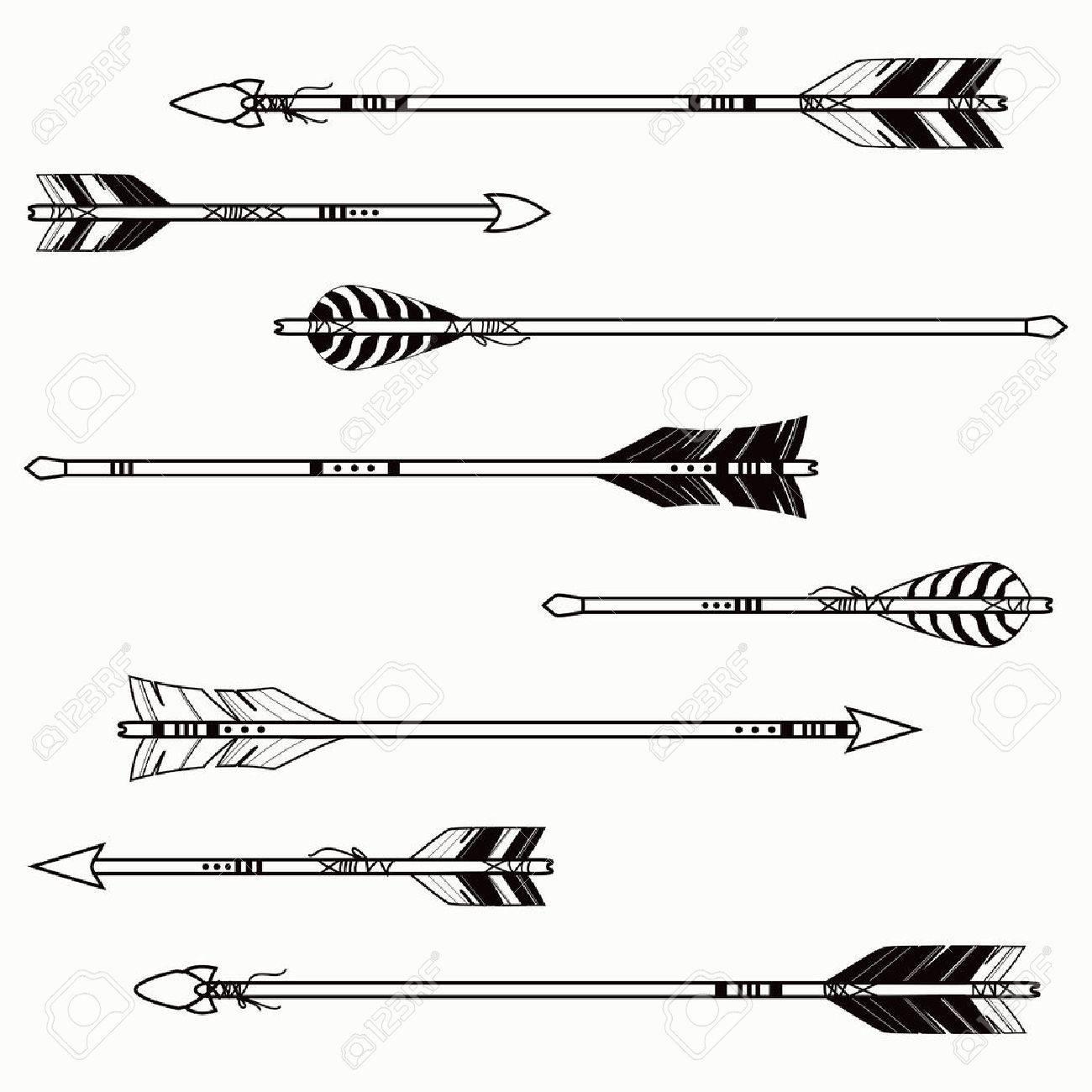 feather arrows  Vector Indian Arrow Vector