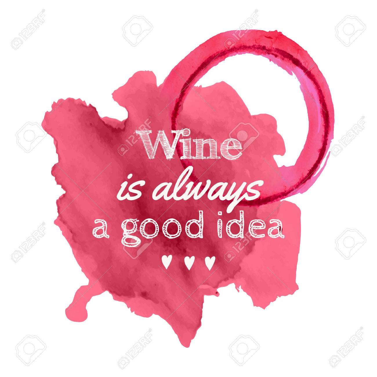 こぼれたワインのベクトル イラスト汚れ引用「ワインは常に良い