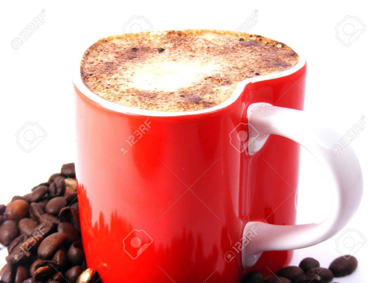 Romantic cappuccino coffee Stock Photo - 10734593