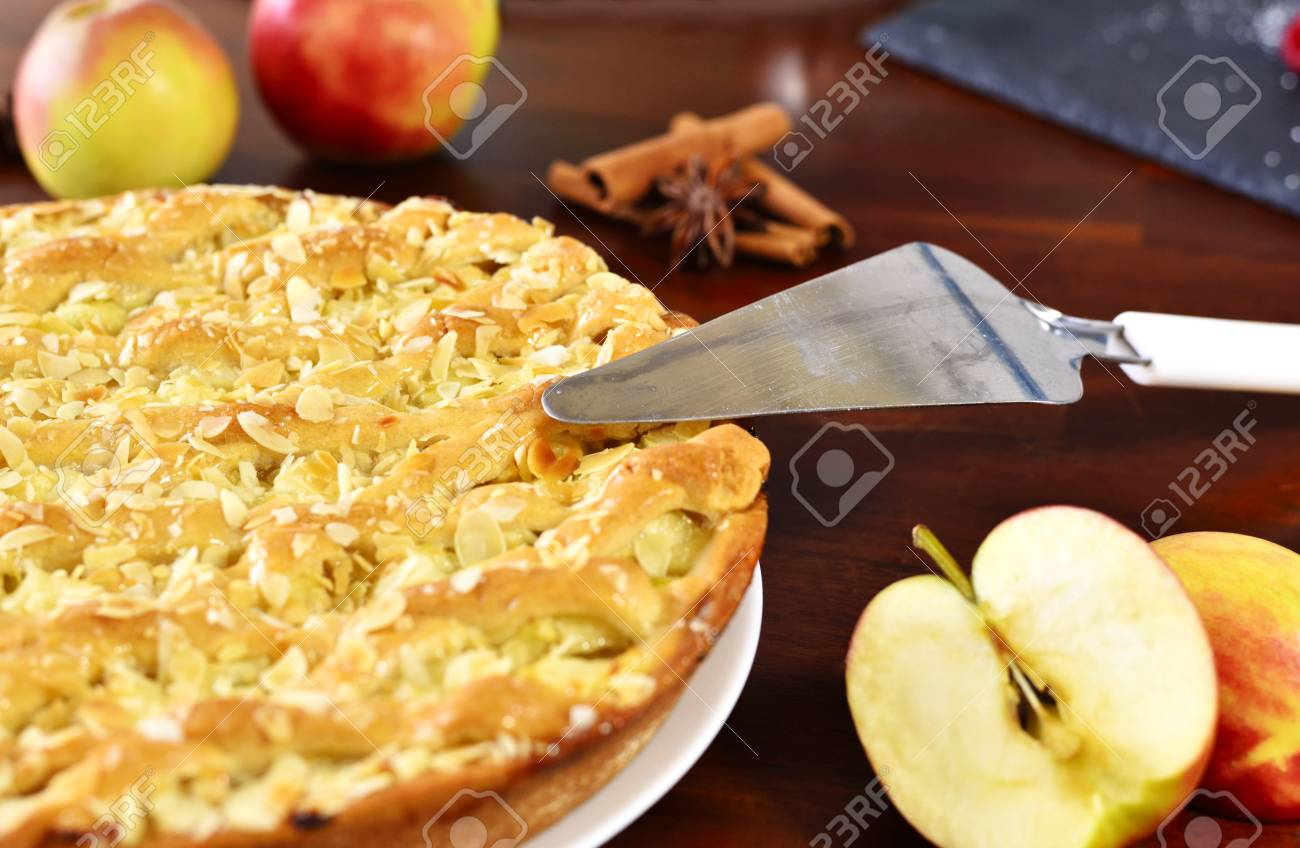 Delicious Apple Pie Or Apple Cake With Fresh Apples And Spices