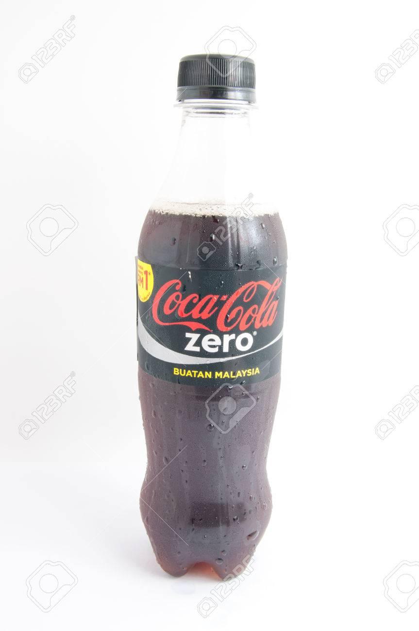 Bottiglia Di Coca Cola Zero Su Sfondo Bianco Bere Coca Cola è Il
