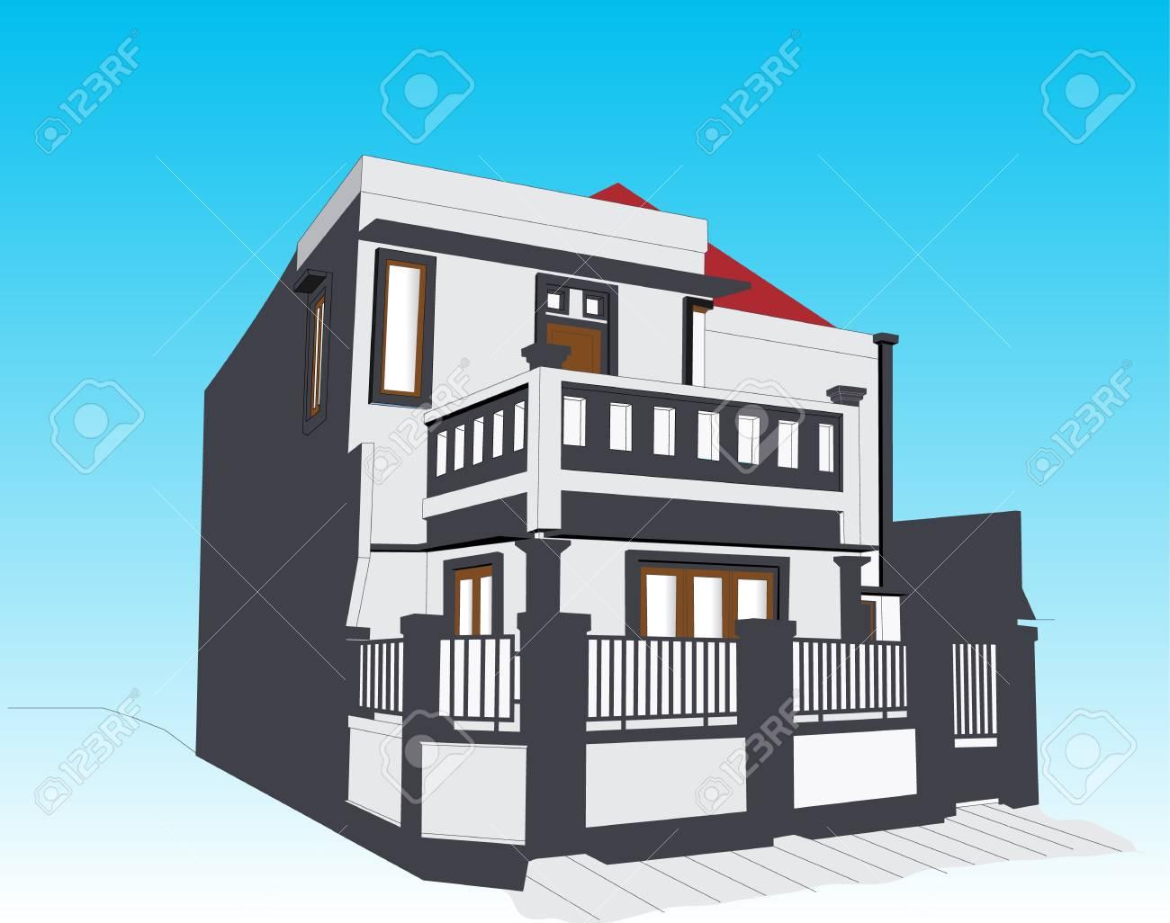 Minimaliste Exterieur D Une Maison Pour Propertys Etc Clip Art