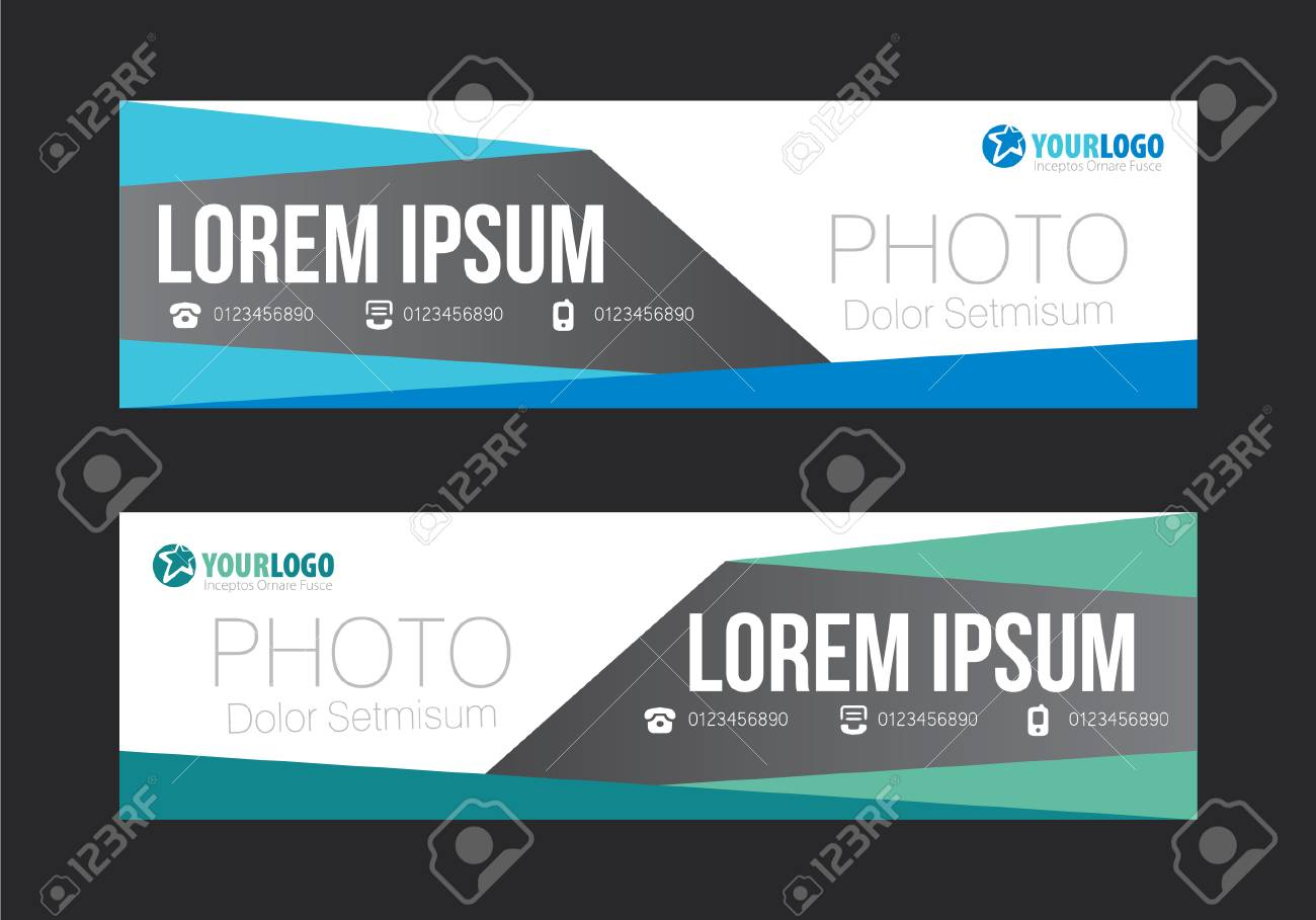 Creative Banner Templates With Elements Royalty Free Cliparts