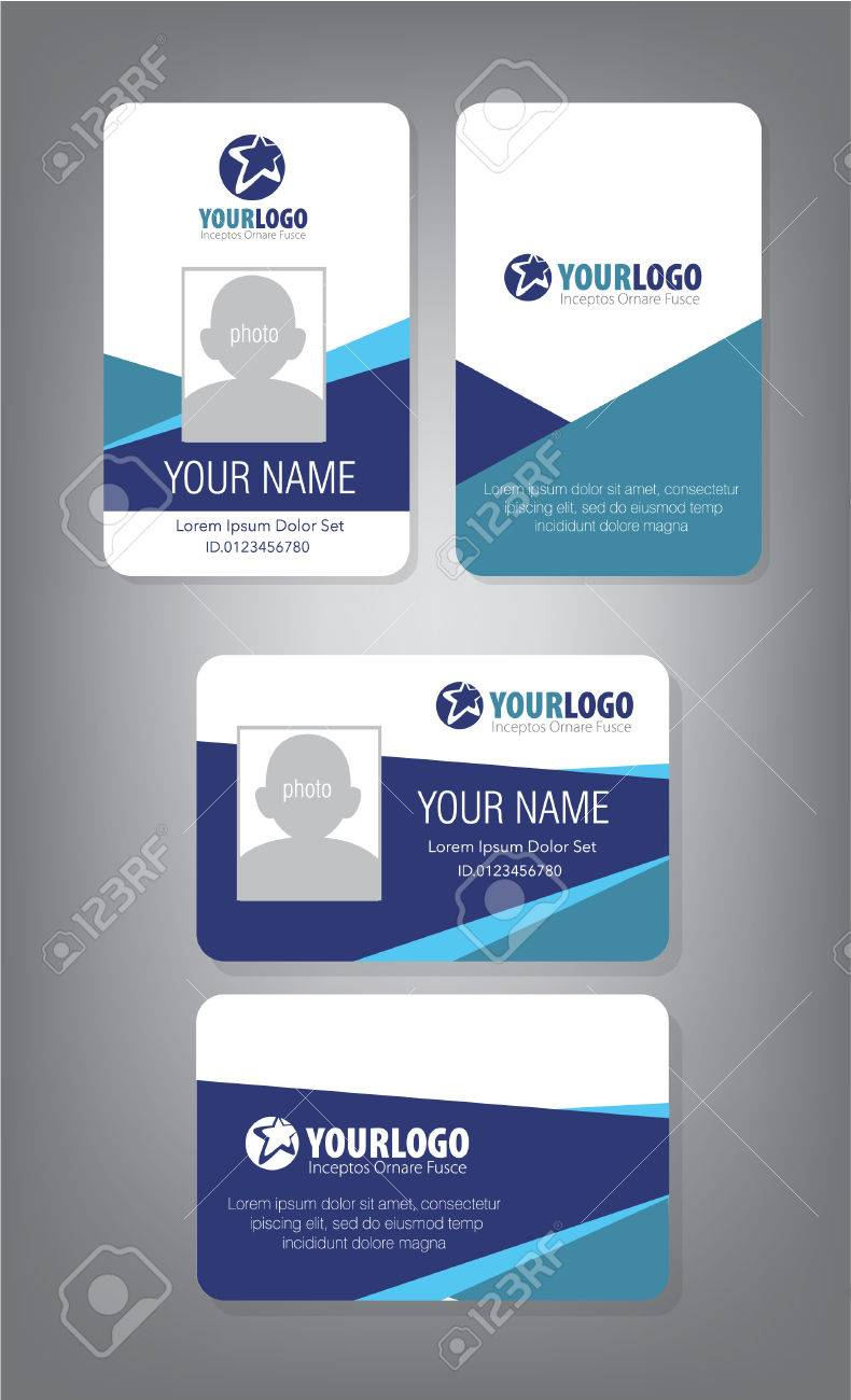 id card template for employee and others stock vector 69114046