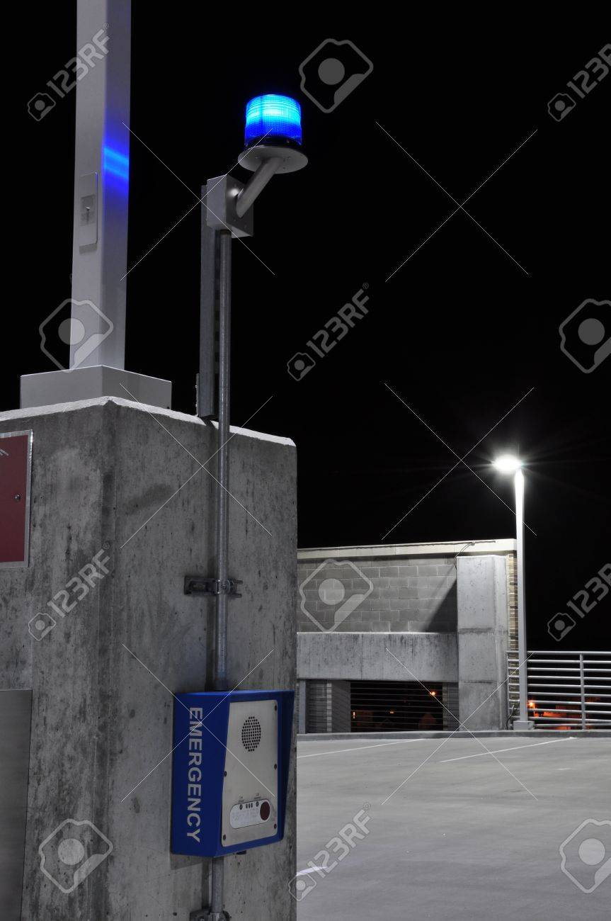 Personal call box used for emergencies in public places Stock Photo - 15216989