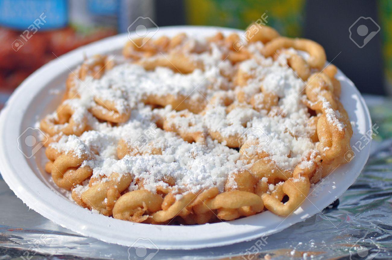 Fried Dough Funnel Cake Or Elephant Ear Sold At North Carolina