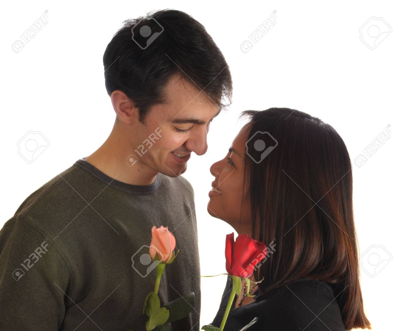 Loving couple with roses Stock Photo - 2511436