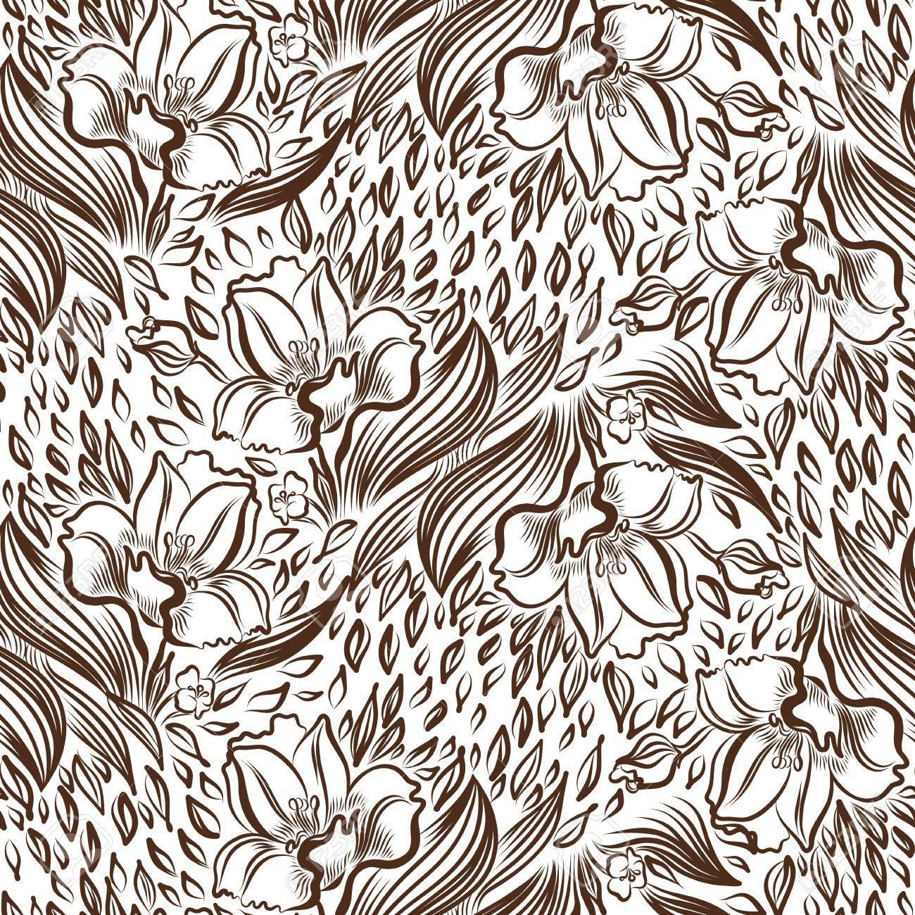 Fond D Écran Tatouage narcissus ressort de dessin fleur de tatouage. fond d'écran pattern