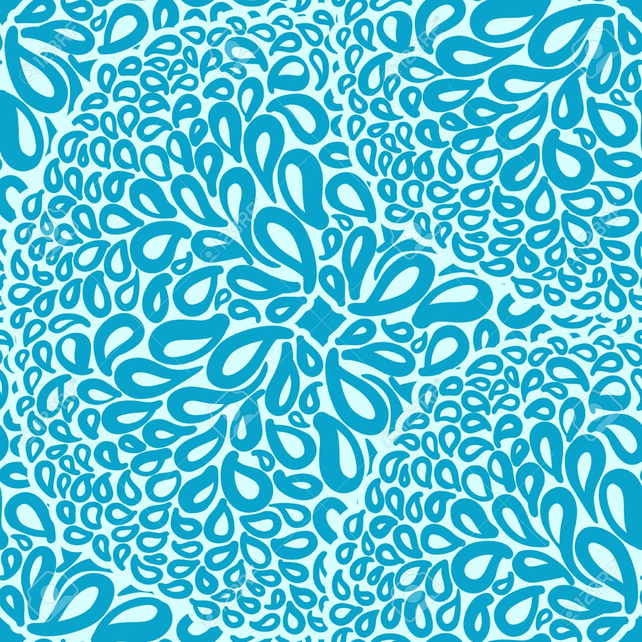 Blue Tiles Wallpaper Moroccan Ornaments In And White Colors Seamless Pattern