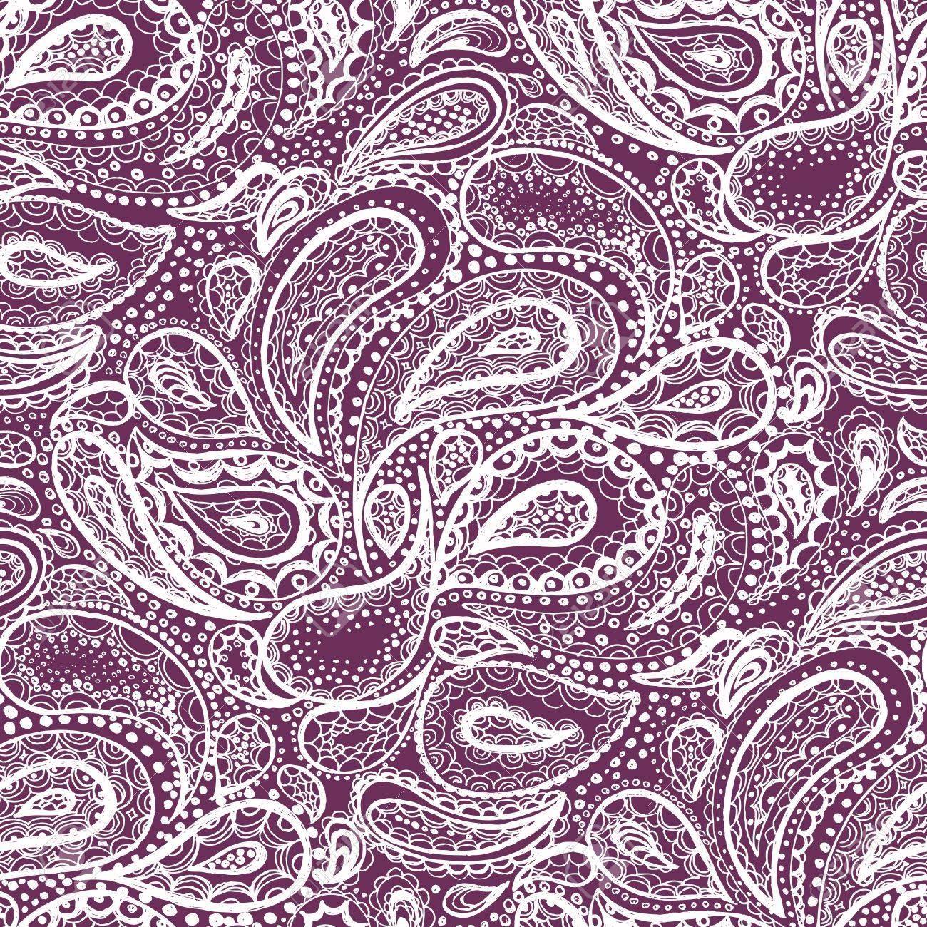 Mehndi ethnic tattoo henna zentangle doodle elements. Wallpaper textile seamless pattern Stock Photo - 52450116