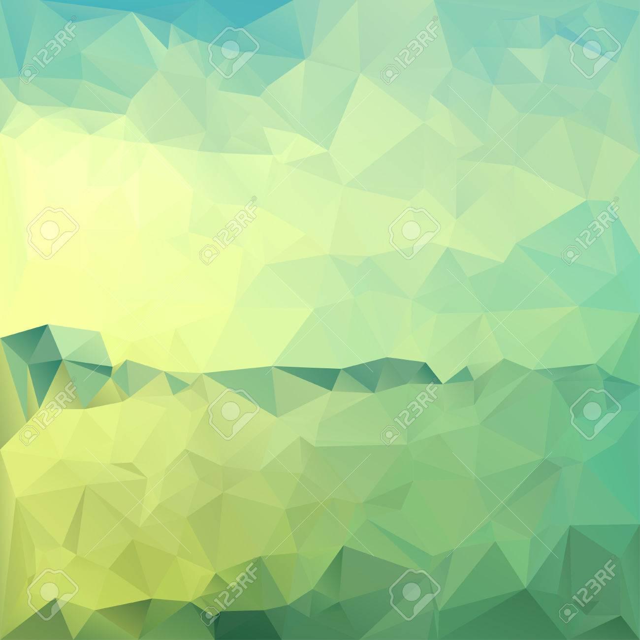 Poligonal Paisaje Abstracto Fondo De Geometría De Mosaico En Colores ...