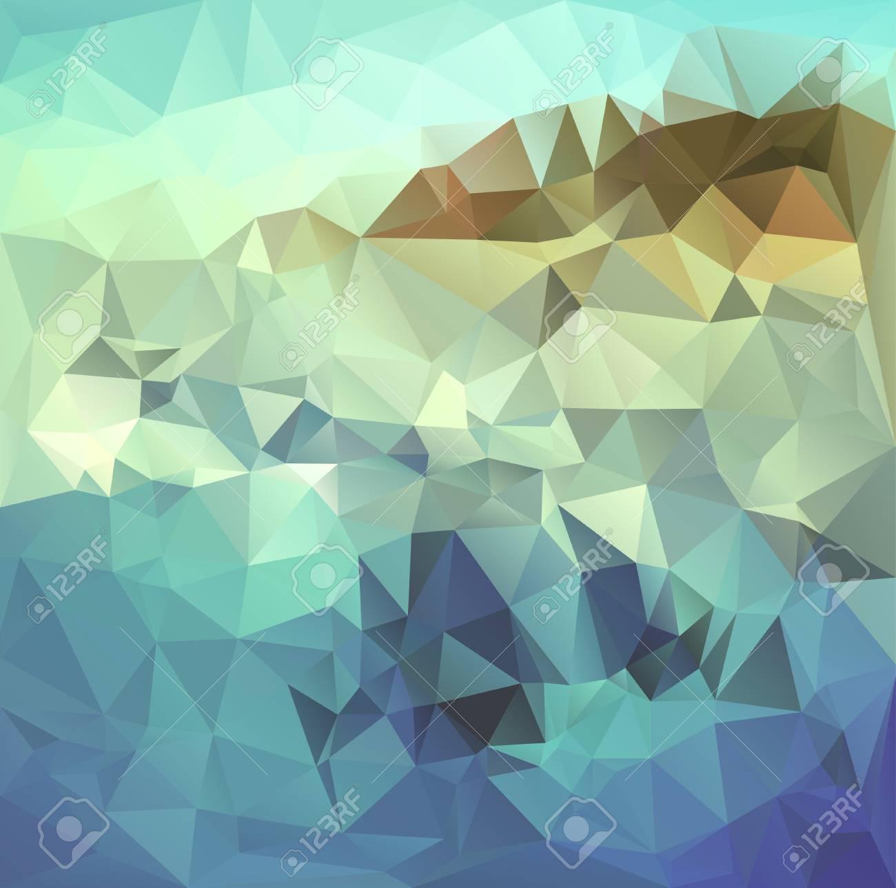 Poligonal Mosaico Geometría Abstracta Fondo Del Paisaje. Se Utiliza ...