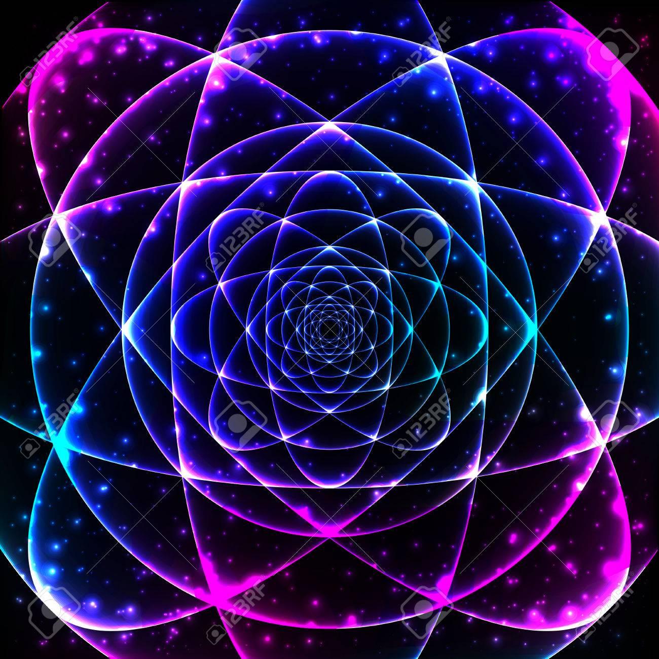 Heilige Geometrie Symbol Mandala Geheimnis Element Hintergrund Für