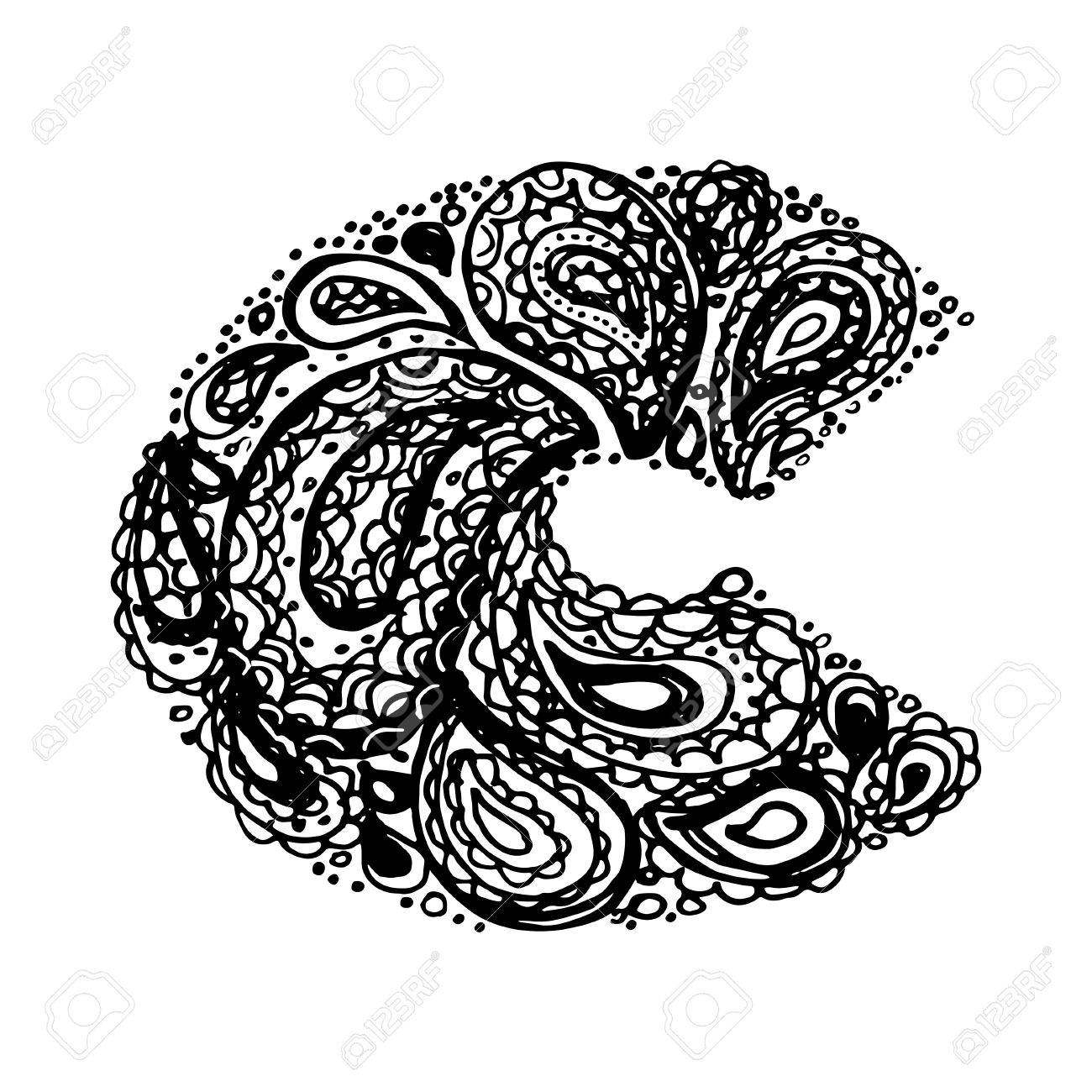 Letter c decorative alphabet with a paisley zen doodle tattoo letter c decorative alphabet with a paisley zen doodle tattoo ornaments filling display font altavistaventures Gallery