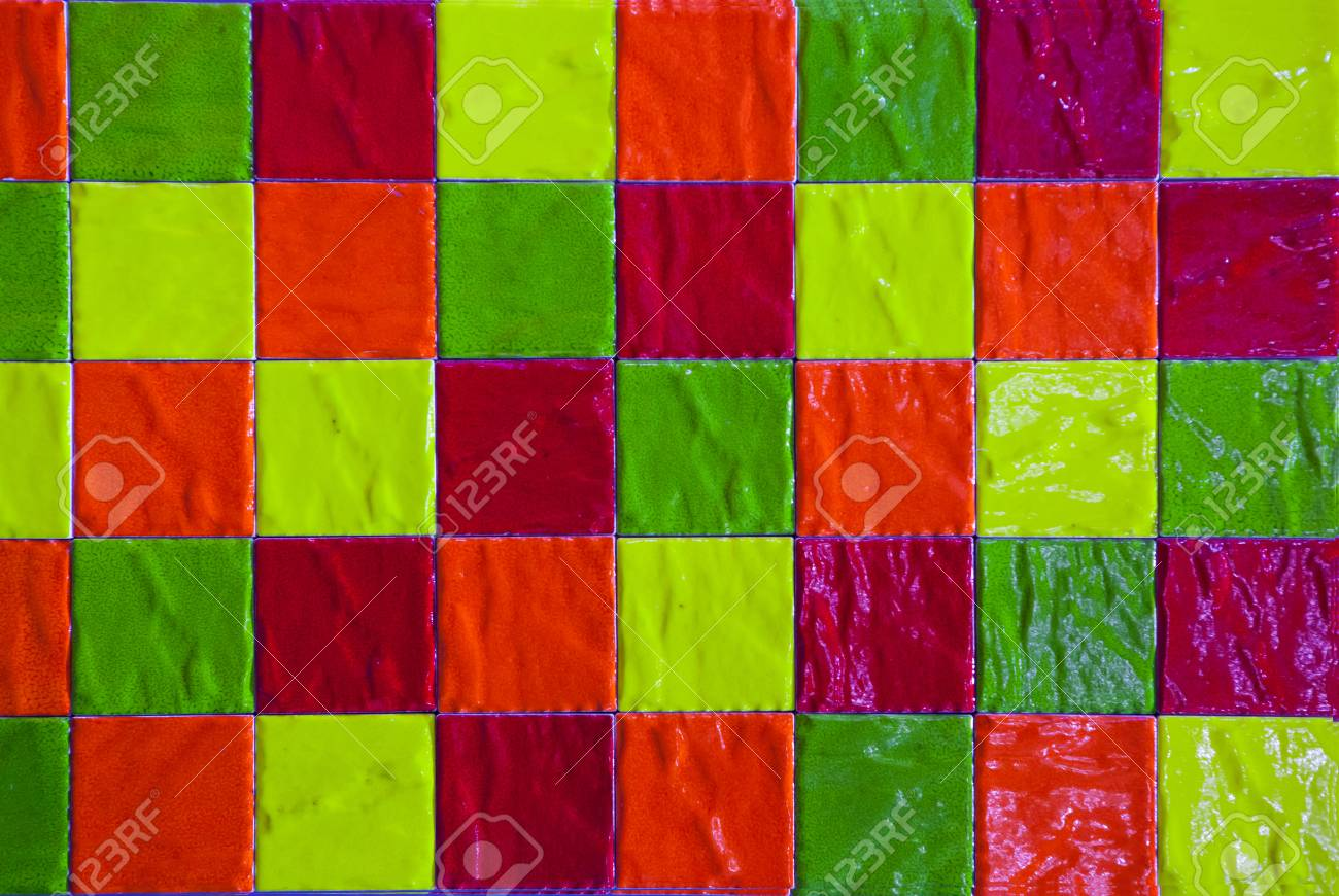 Piastrelle colorate carta da parati u carte da parati elusivo