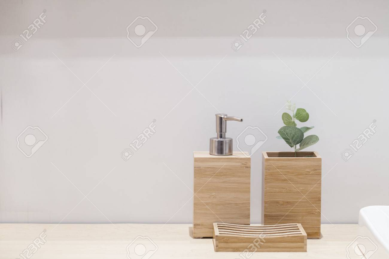 Wooden Liquid Soap Bottle With Small Tree And Soap Pad . Bathroom ...