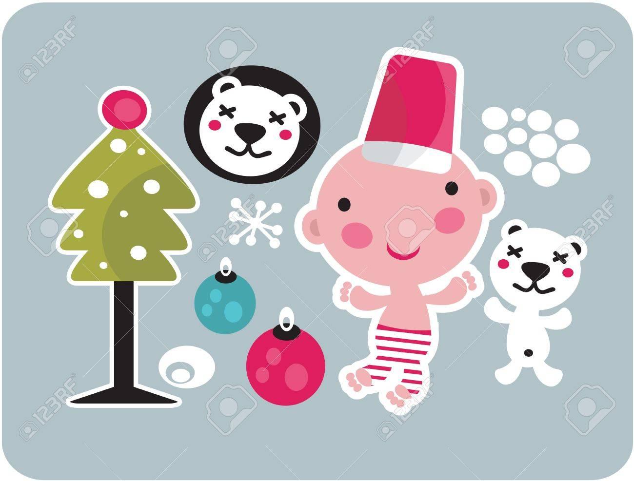 Christmas icons set. Vector illustration. Stock Vector - 11749459