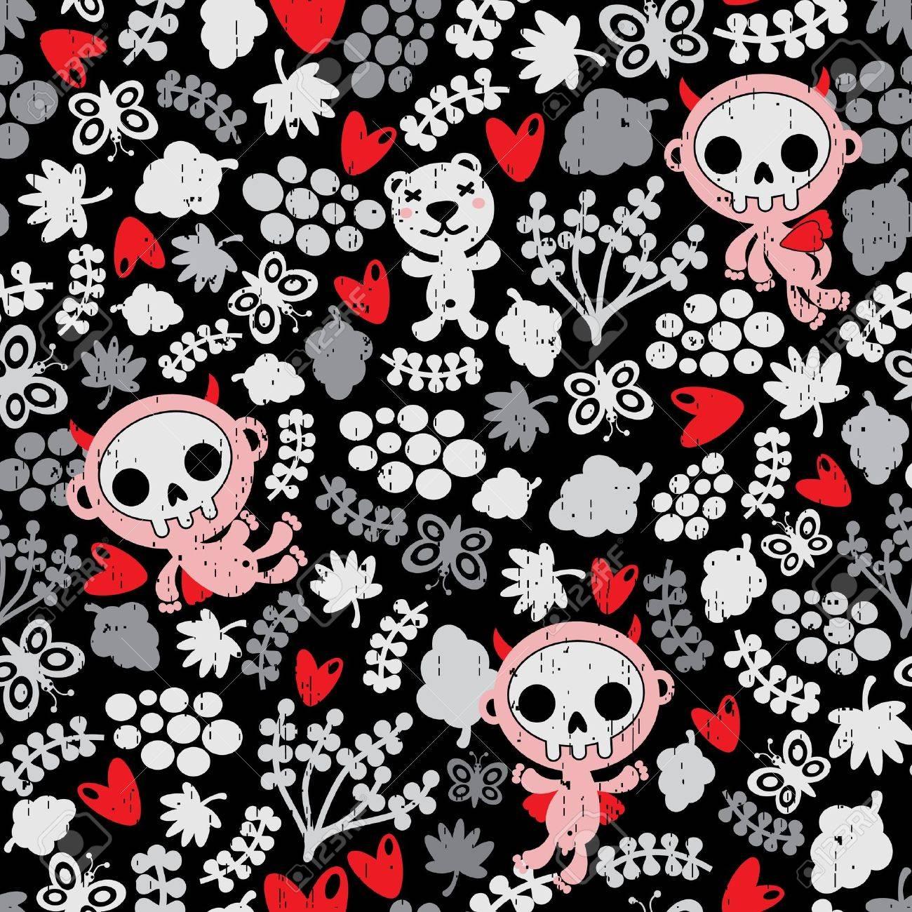 Crazy babies seamless pattern. Stock Vector - 12137334