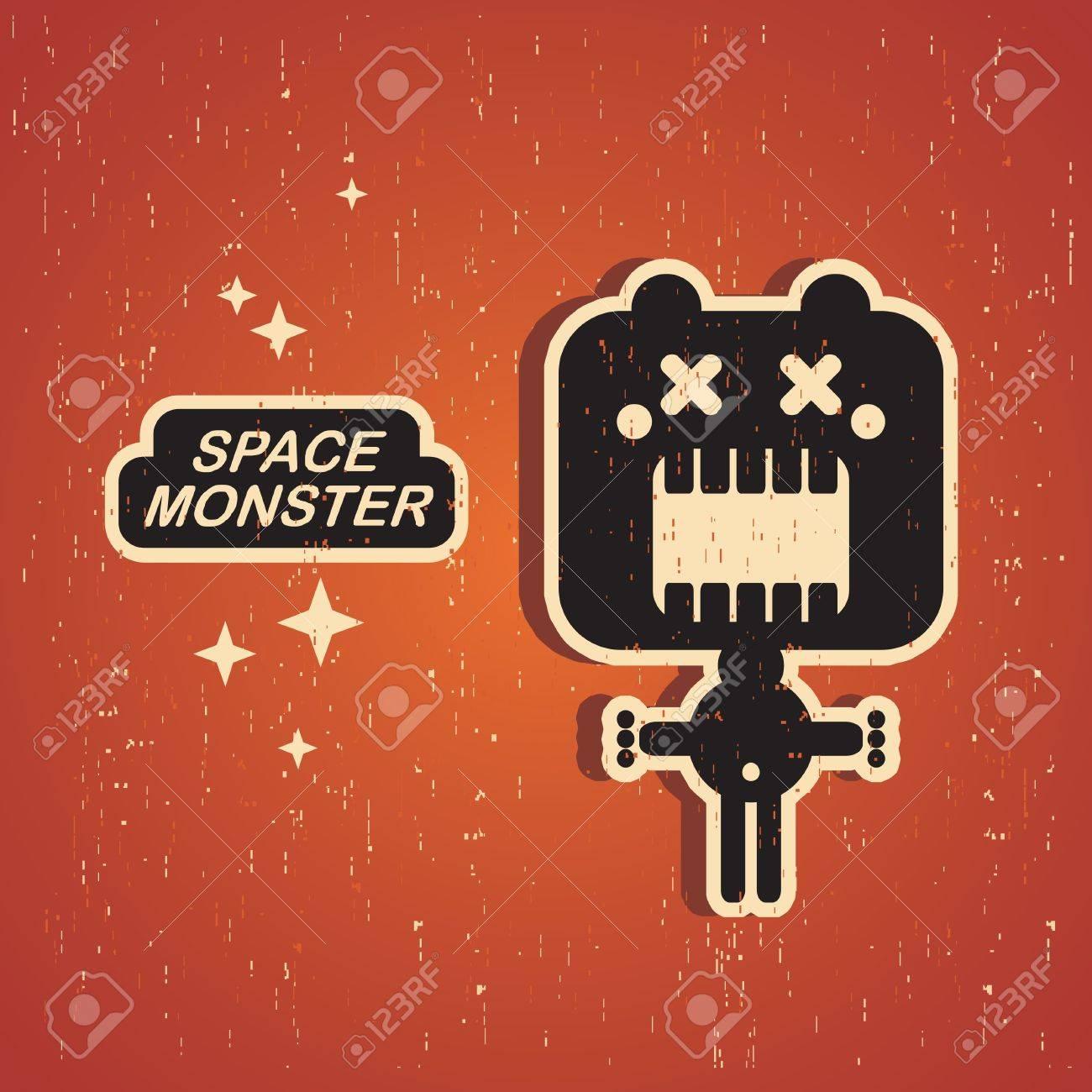 Vintage monster  Retro robot illustration in vector Stock Vector - 14984839