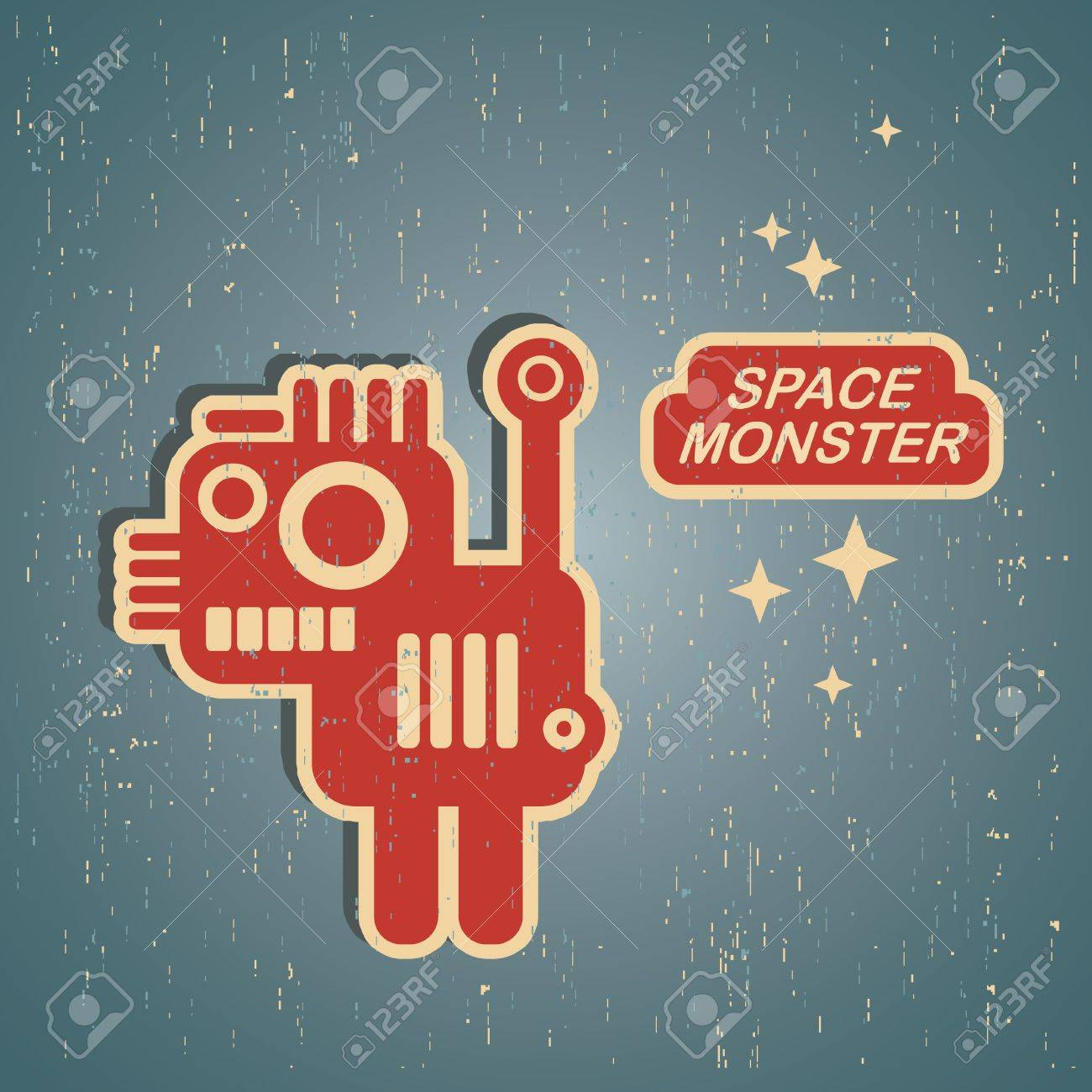 Vintage monster  Retro robot illustration Stock Vector - 15170900