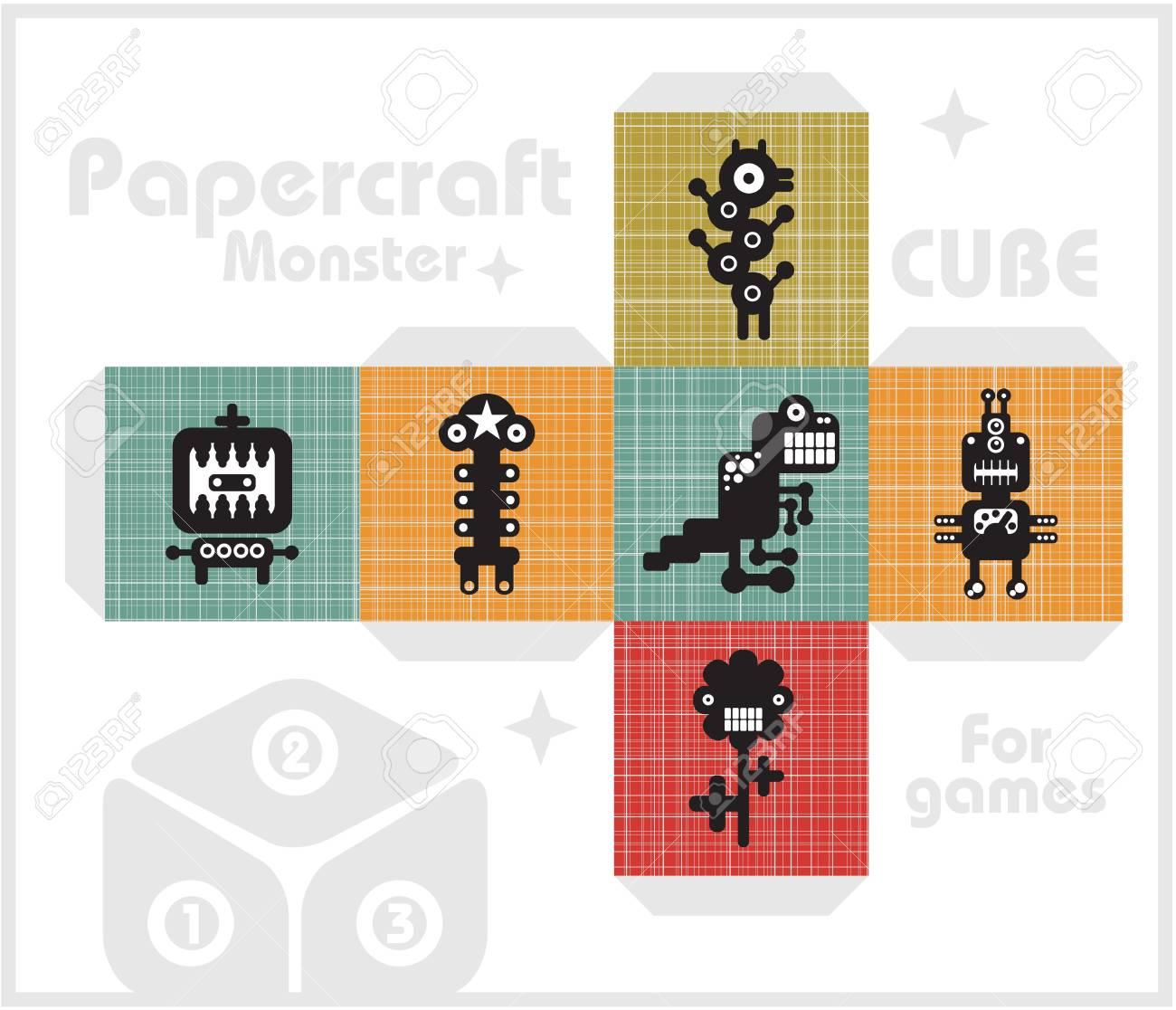 Paper cube for children games and decoration Stock Vector - 17329026