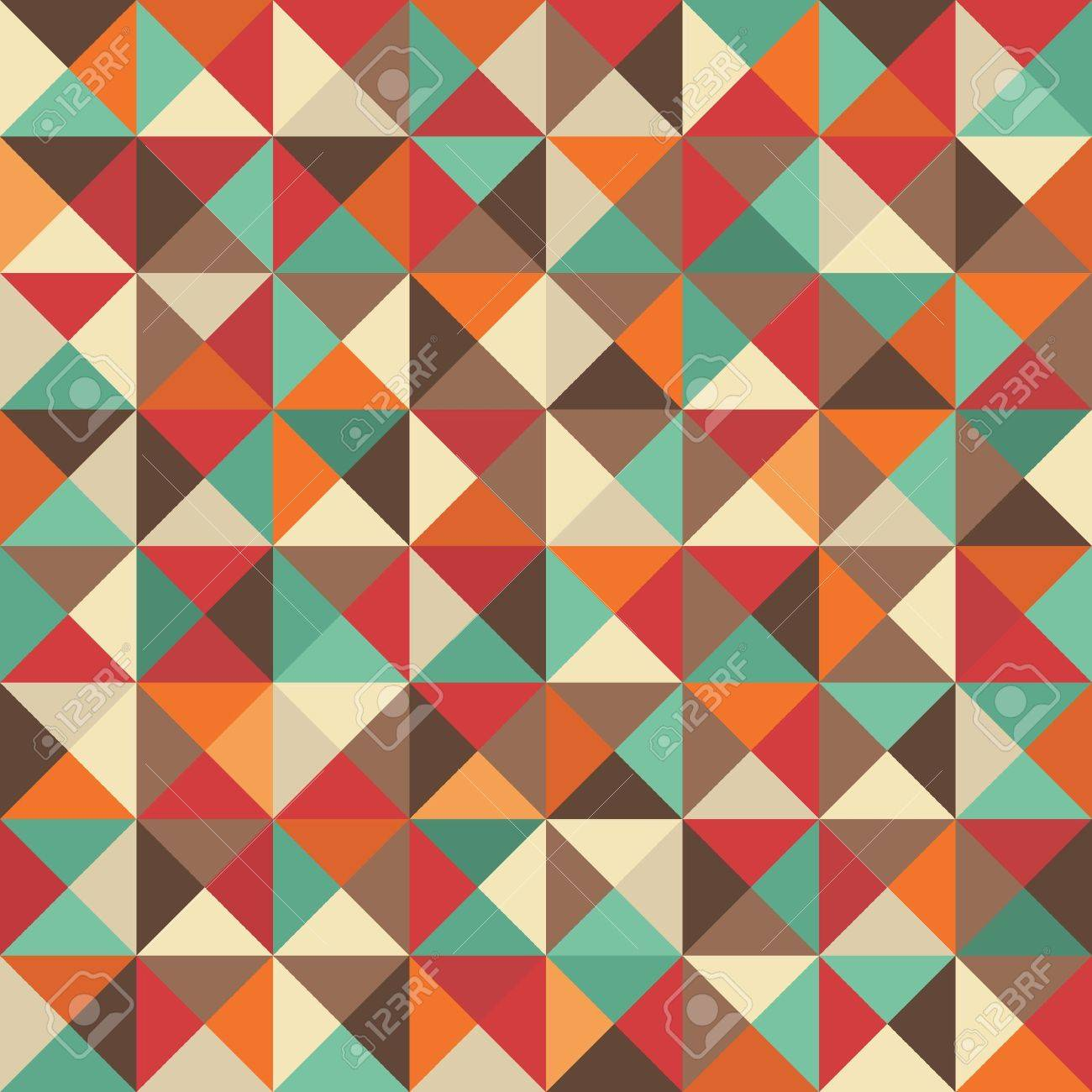 Retro seamless background with geometric shapes Stock Vector - 21027496
