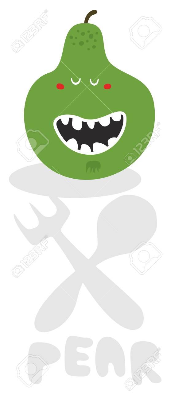 Pear monster. Vector illustration. Stock Photo - 26796264