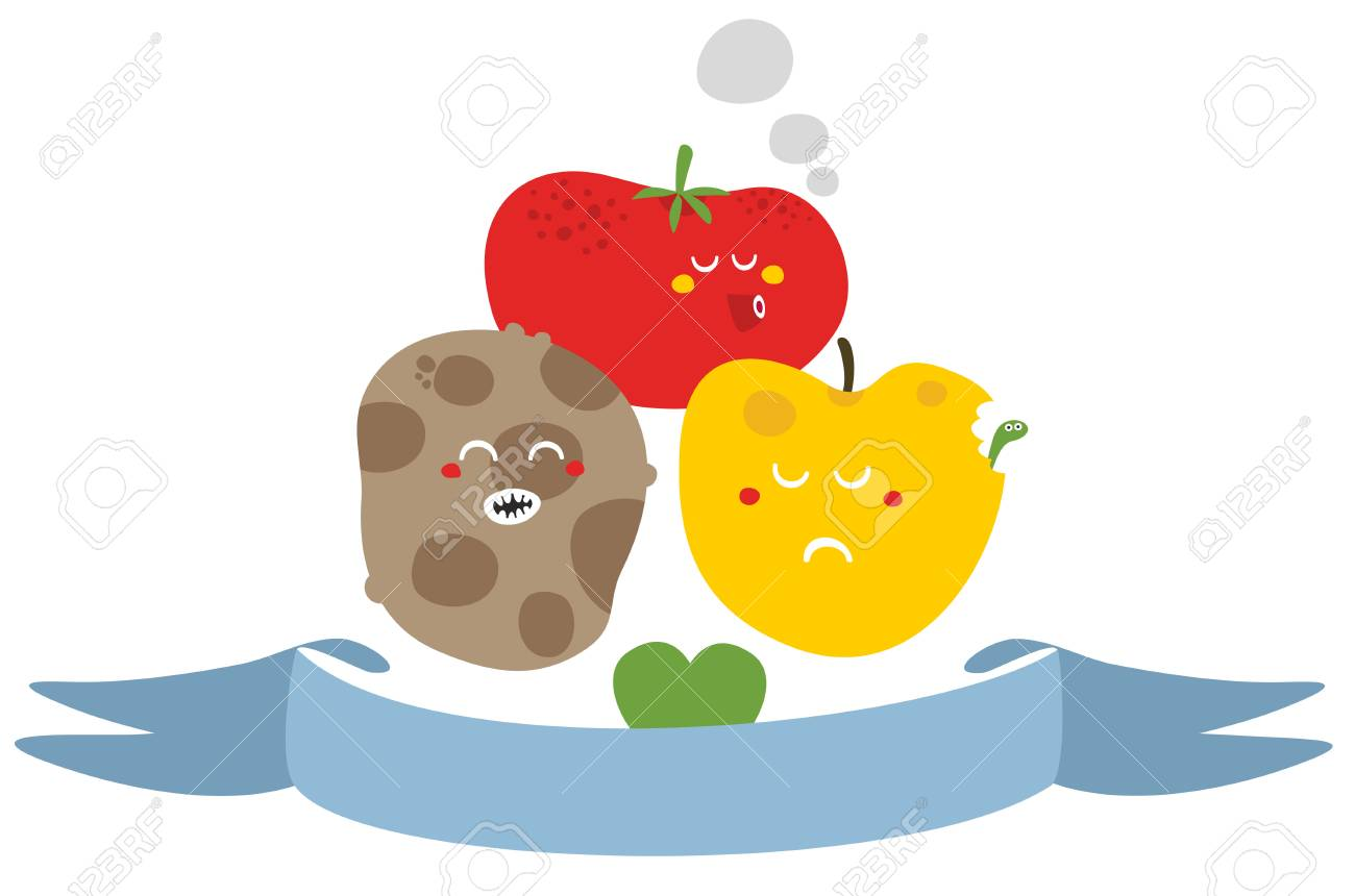 Freaky fruits and vegetables. Vector illustration. Stock Photo - 26796268
