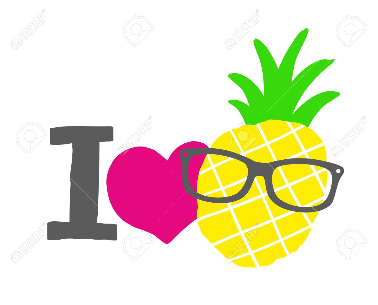 pineapple with sunglasses clipart. i love pineapple print. isolated vector illustration. stock - 45688091 with sunglasses clipart s
