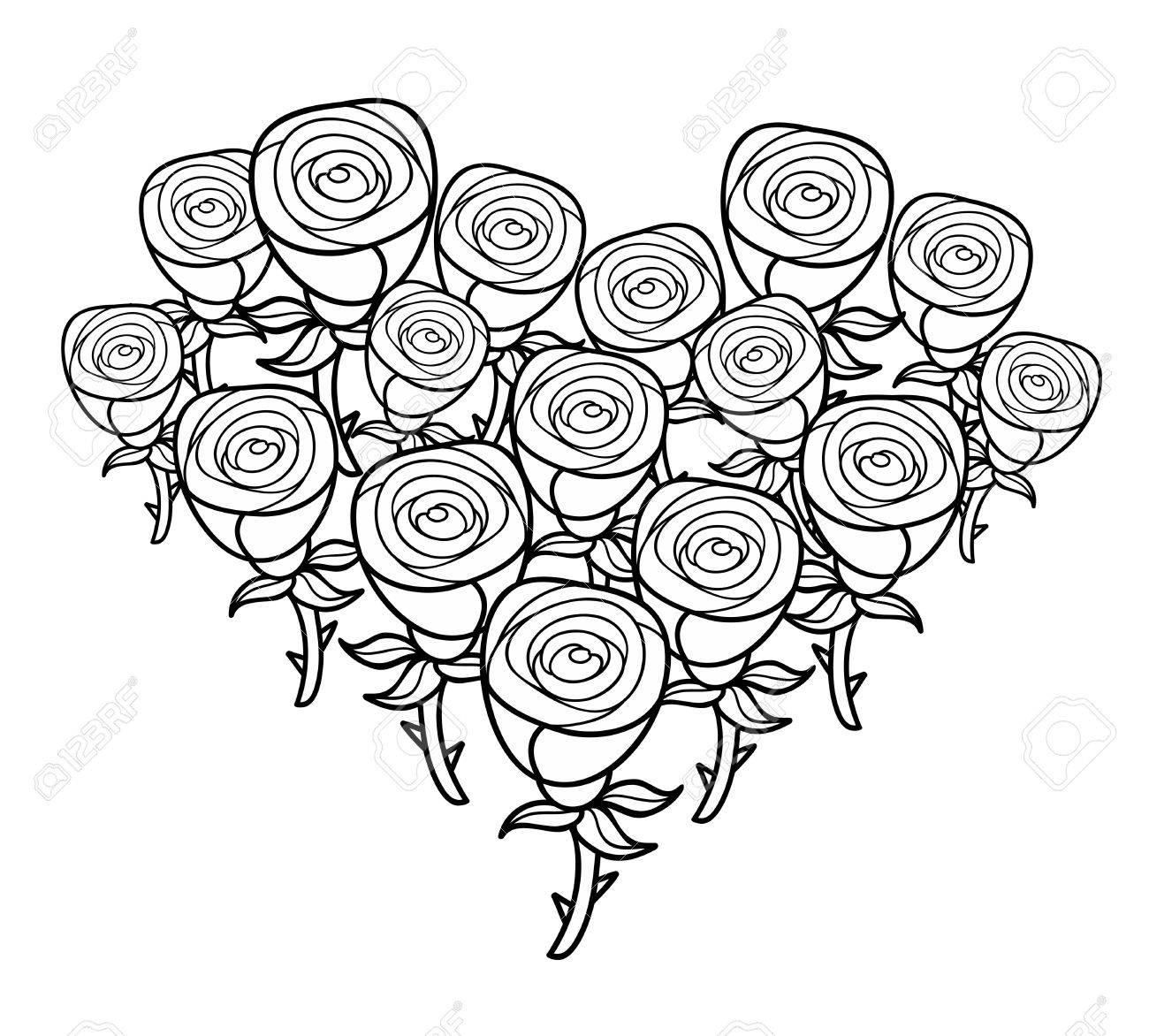 Imagen Para Colorear Rosas Dibujo De Vidriera Rosa Para Colorear