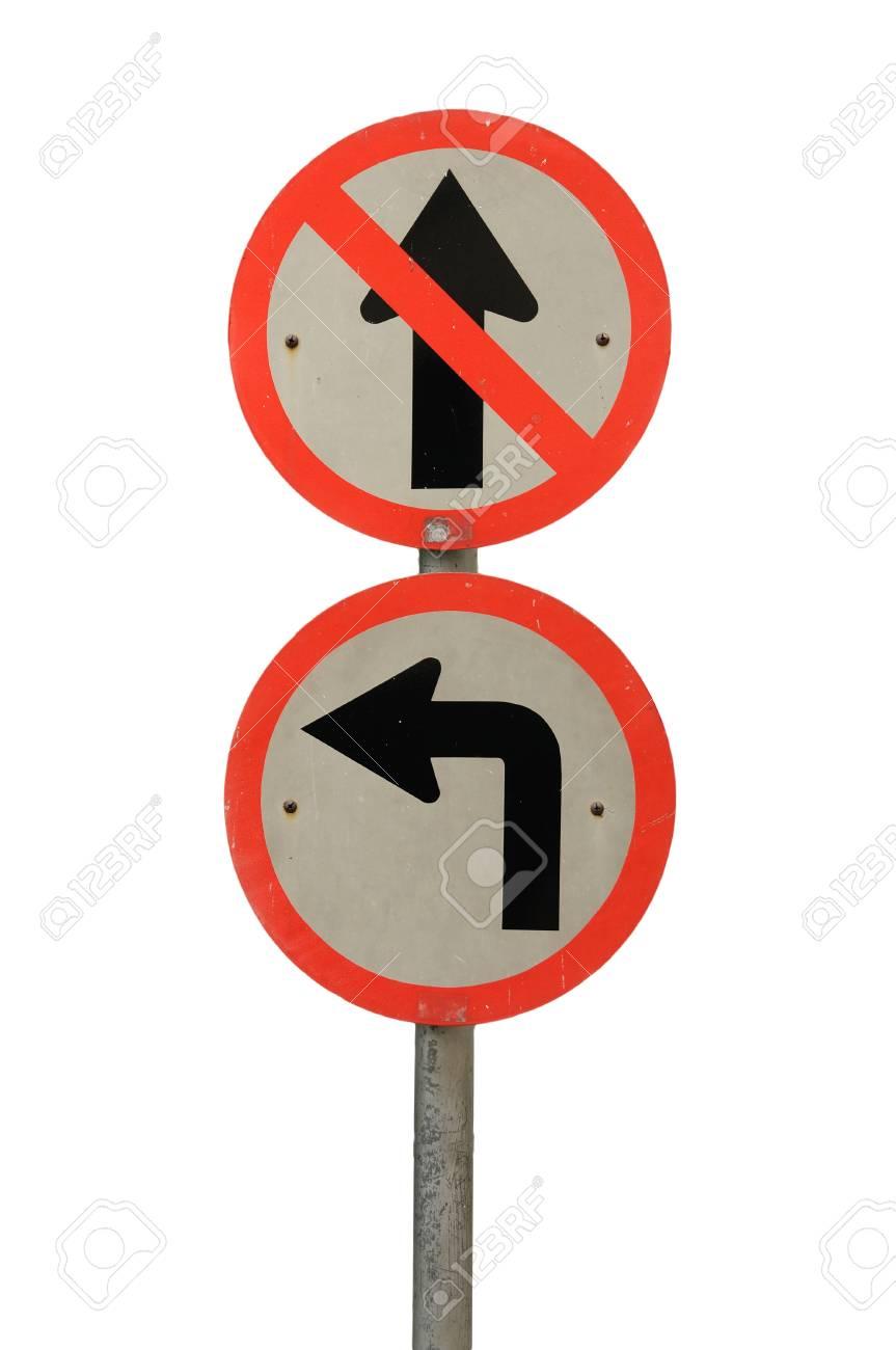 Weiße Und Rote Rahmen Verkehrszeichen, Gehen Sie Nicht Gerade Auf ...