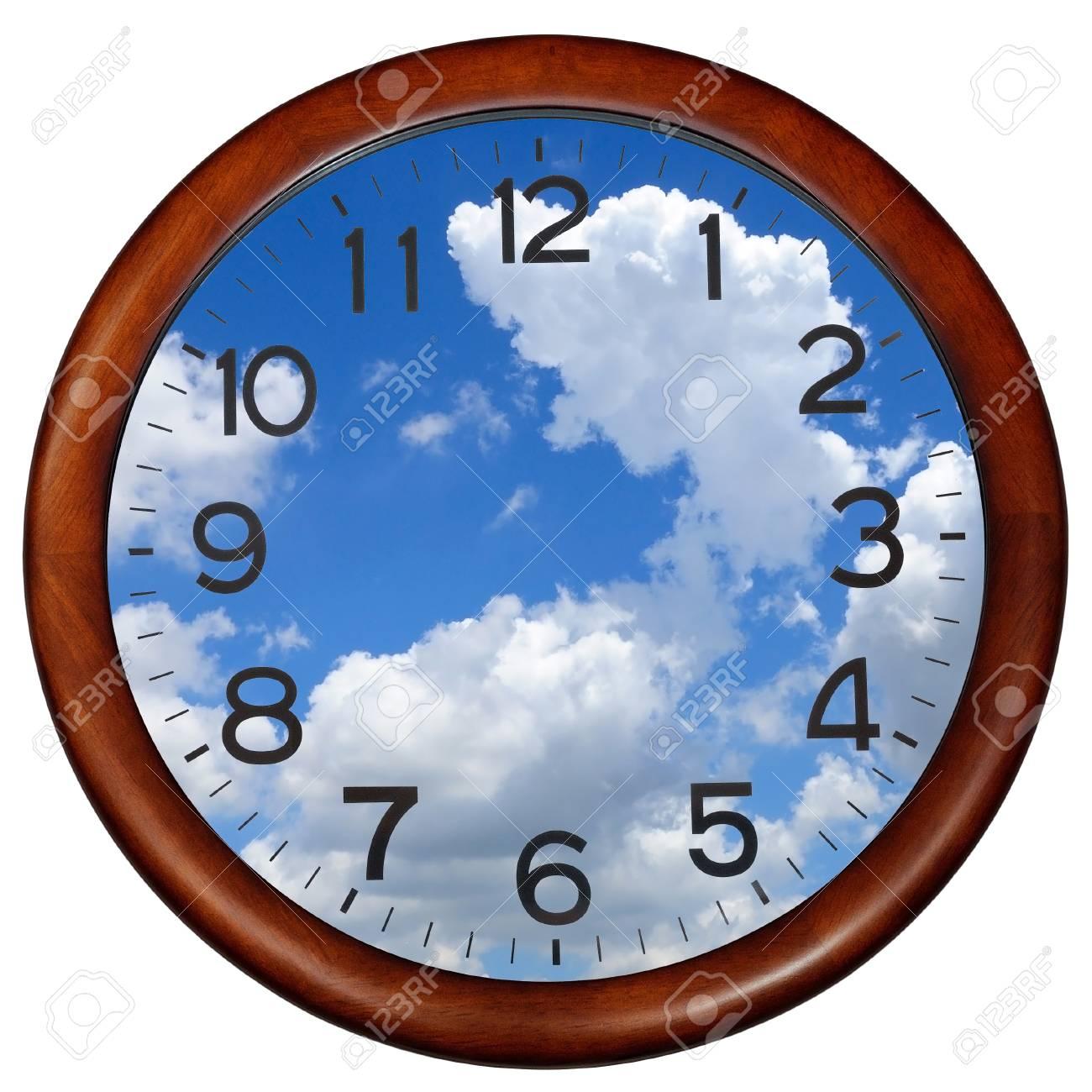 Círculo Reloj Marco De Madera. Fotos, Retratos, Imágenes Y ...
