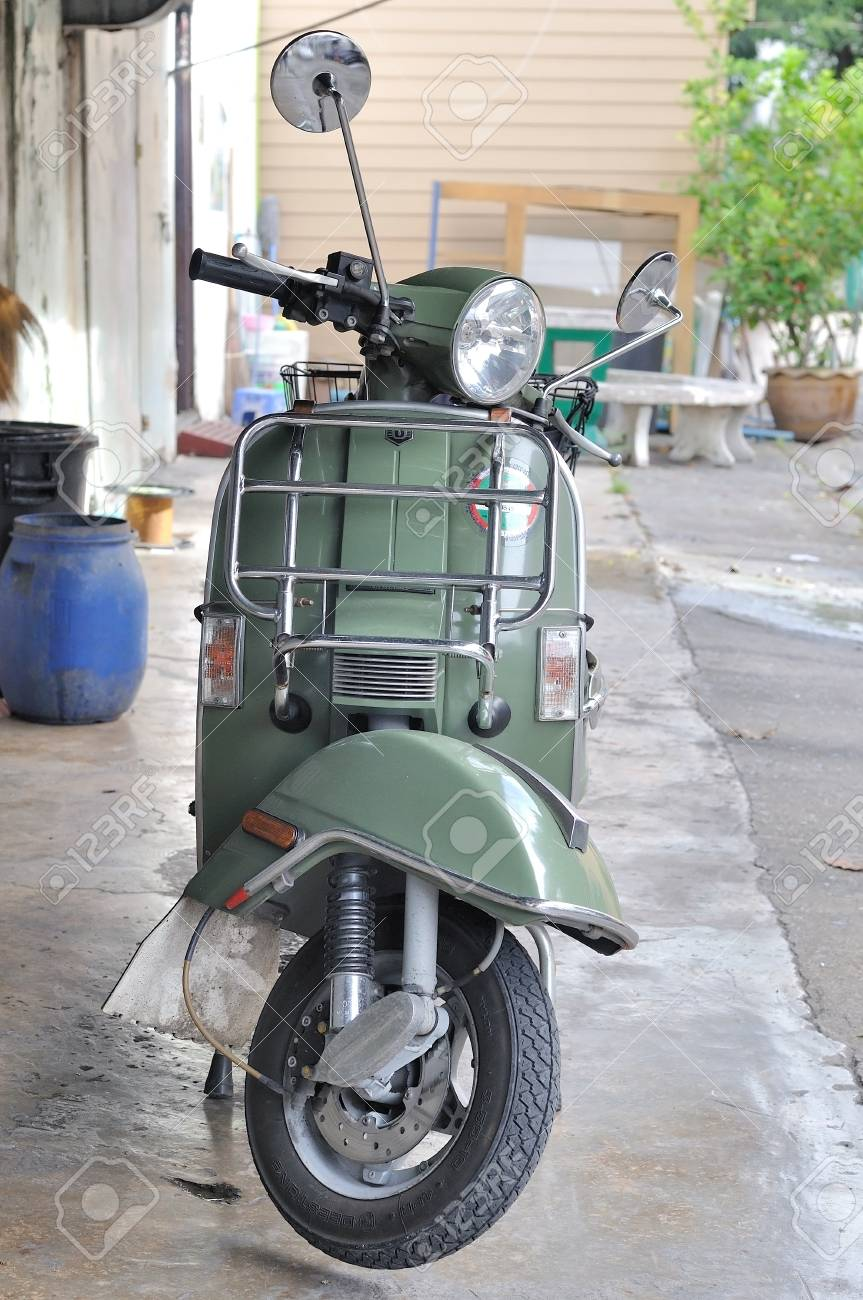 Bangkok Thailand September 1 2016 Classic Vespa Stella Parked Stock Photo Picture And Royalty Free Image Image 68771257