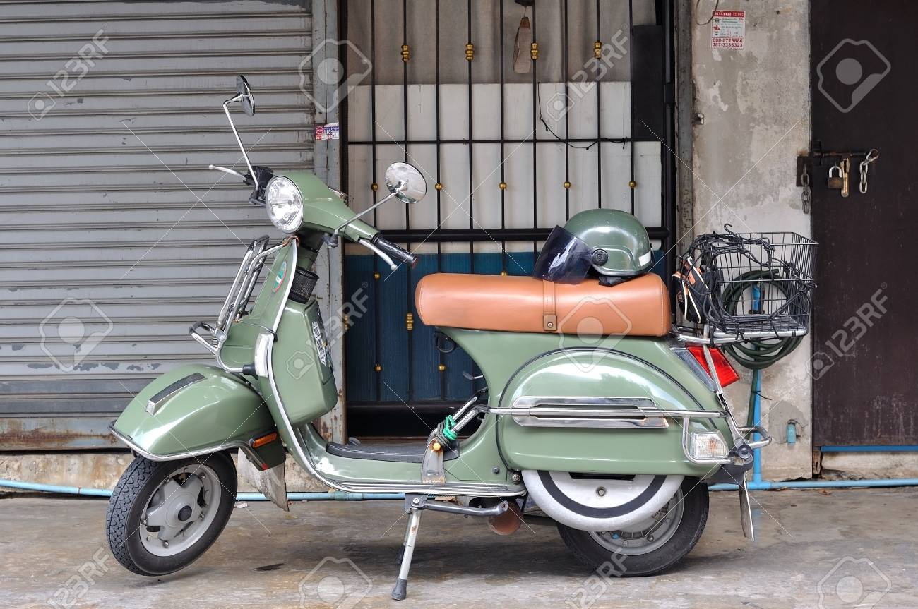 Bangkok Thailand September 1 2016 Classic Vespa Stella Parked Stock Photo Picture And Royalty Free Image Image 68771287